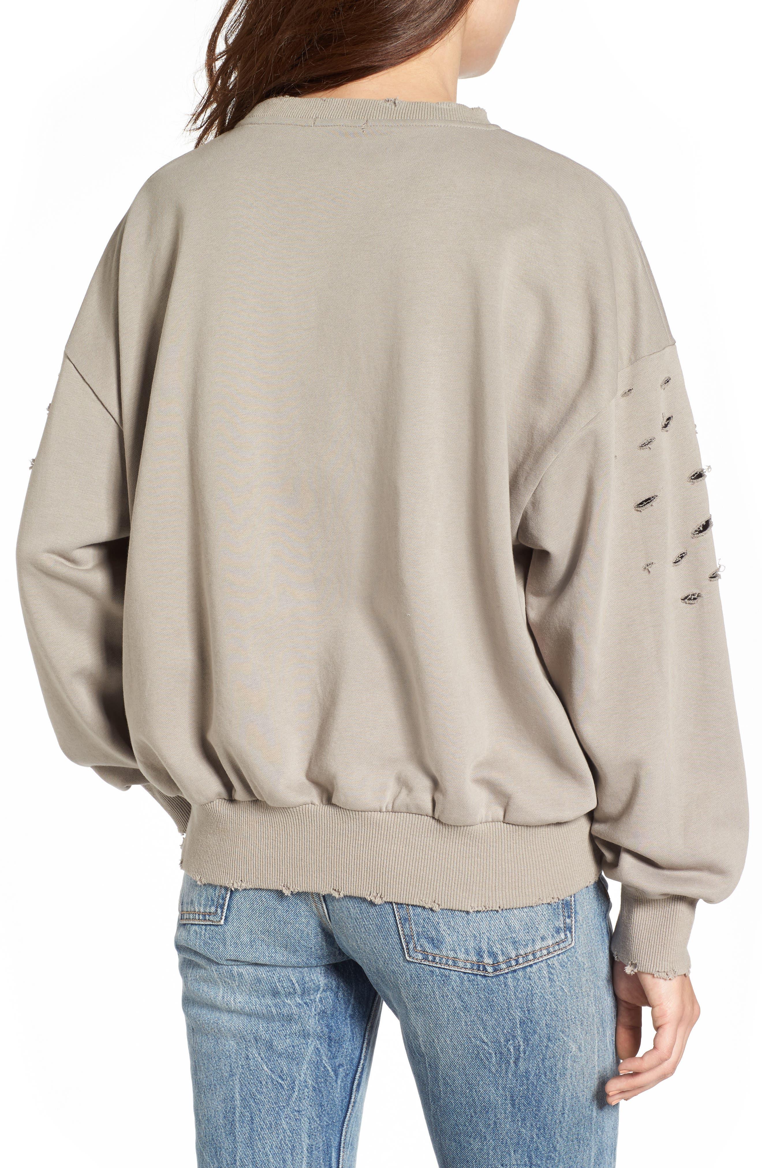 Alternate Image 2  - Soprano Holey Sweatshirt
