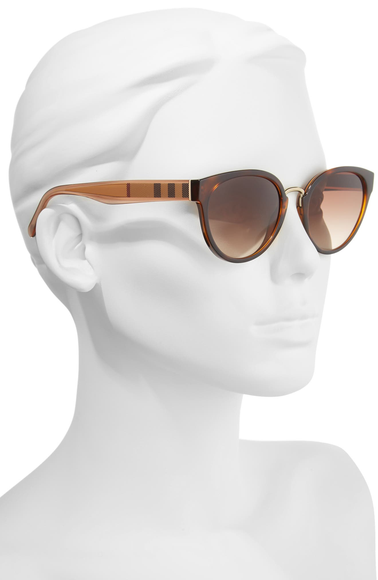 53mm Gradient Cat Eye Sunglasses,                             Alternate thumbnail 2, color,                             Brown Havana