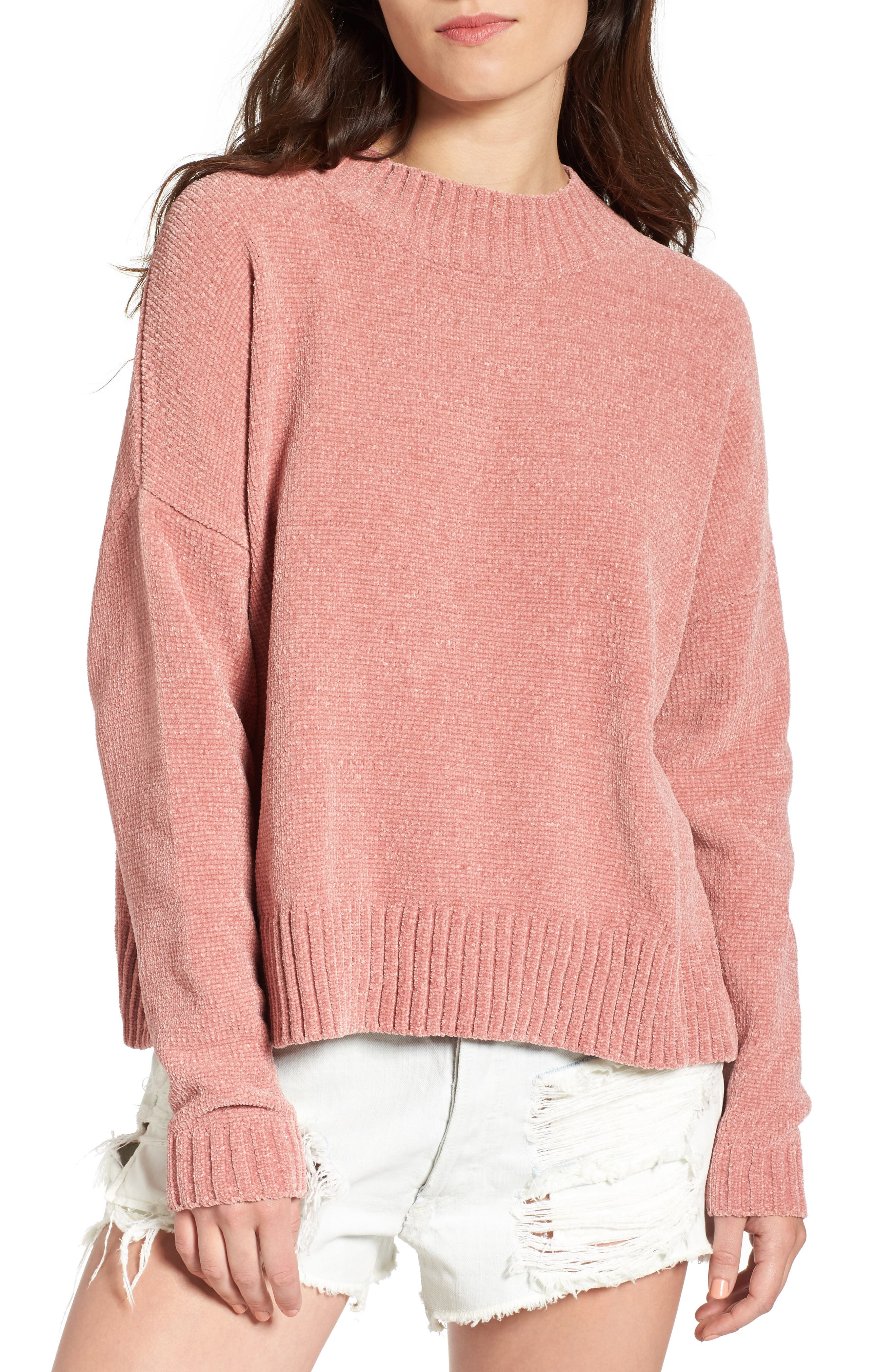 Main Image - BP. Chenille Funnel Neck Sweater