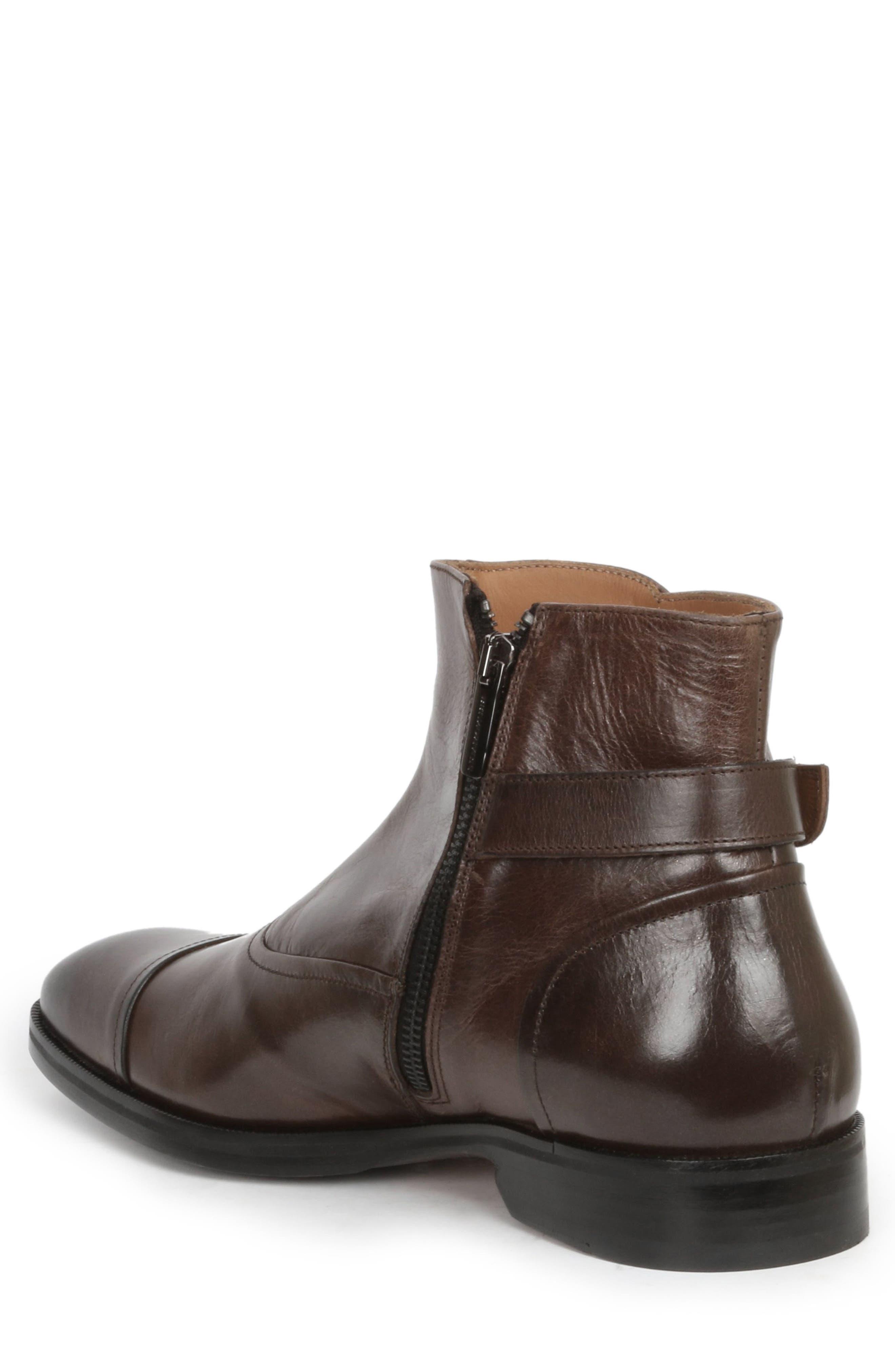'Arcadia' Cap Toe Boot,                             Alternate thumbnail 2, color,                             Dark Brown Leather