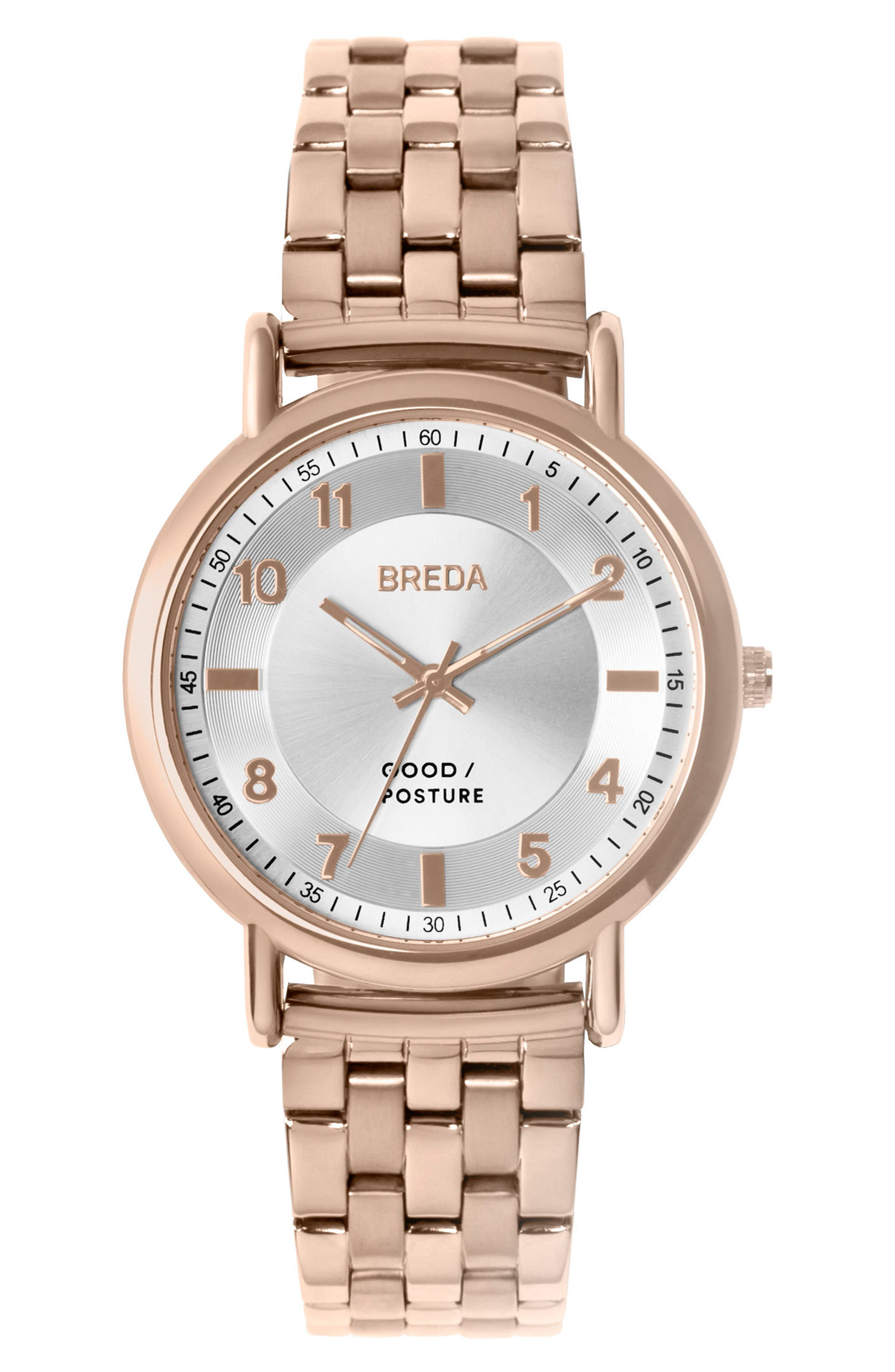 Blossom Round Bracelet Watch, 41mm,                         Main,                         color, Rose Gold/ Silver/ Rose Gold