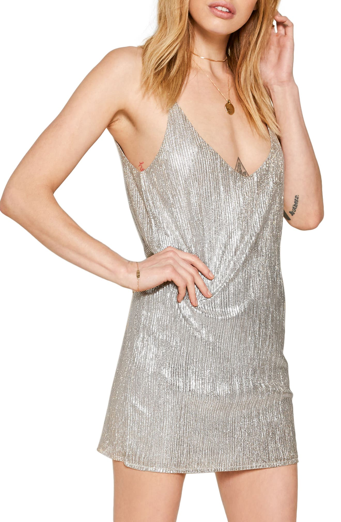 Main Image - Amuse Society After Sunset Sparkle Slipdress