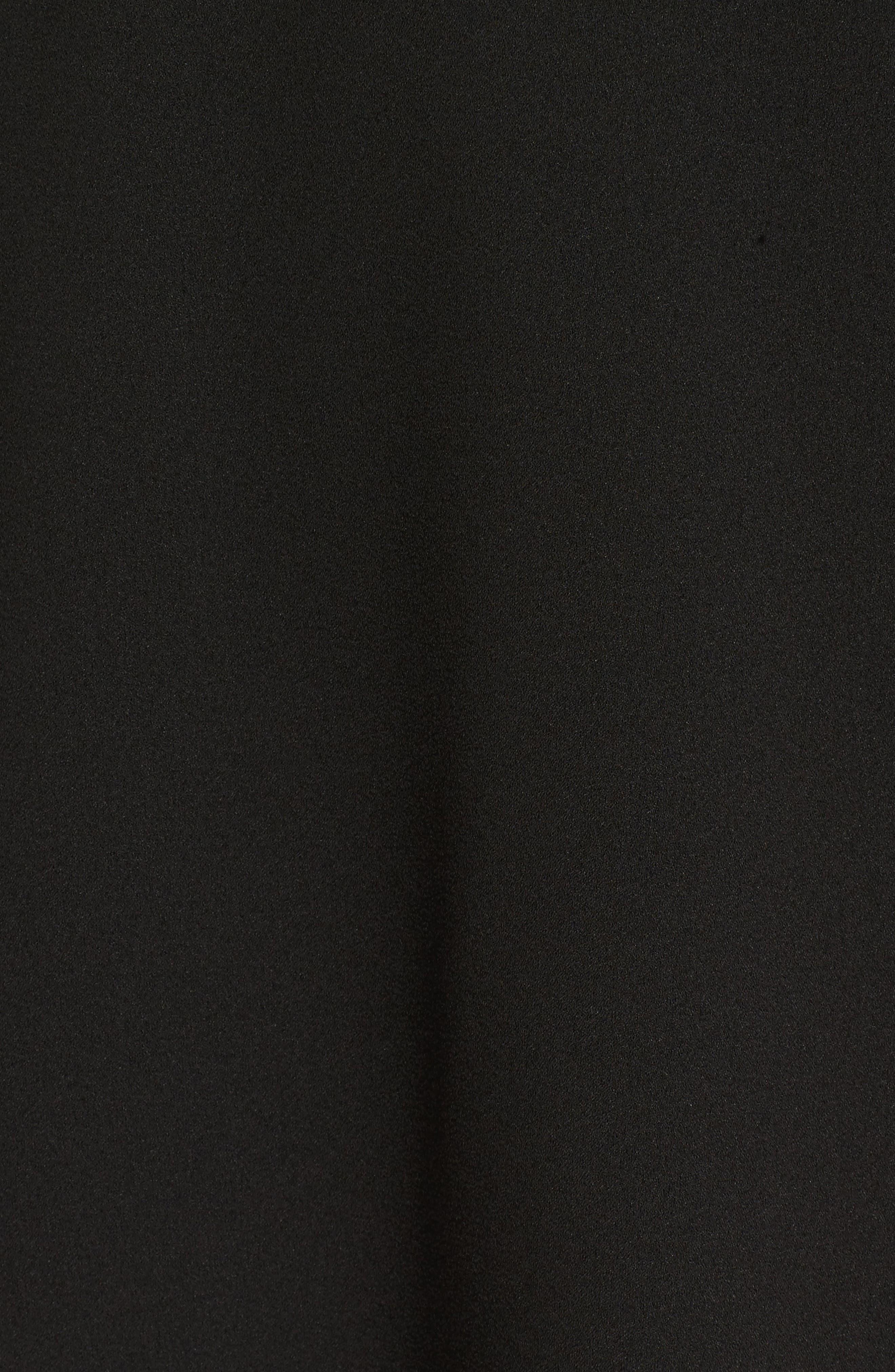 Signe Ruffle A-Line Dress,                             Alternate thumbnail 5, color,                             Black