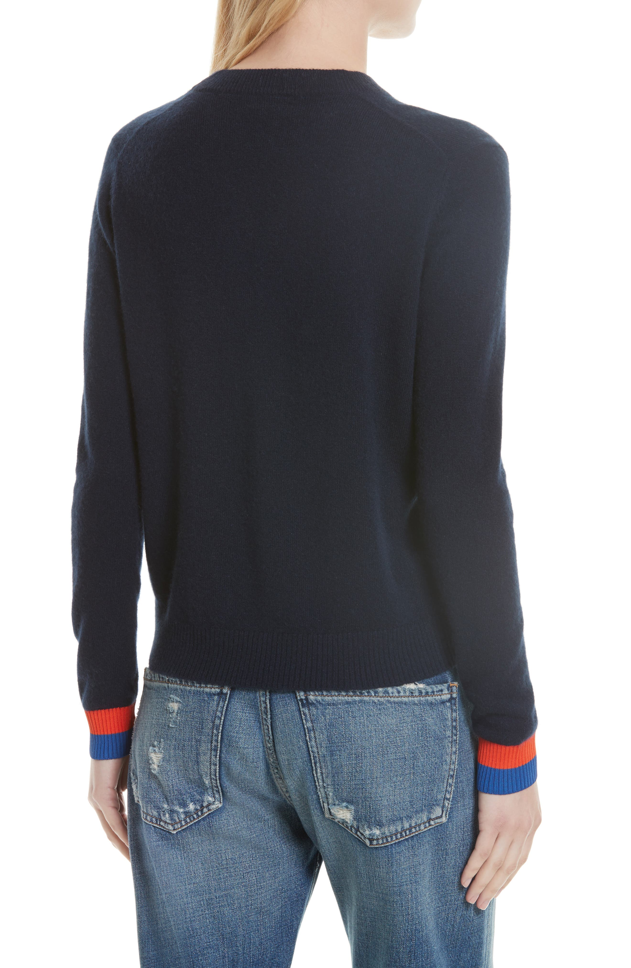 Cashmere Sweater,                             Alternate thumbnail 2, color,                             Navy