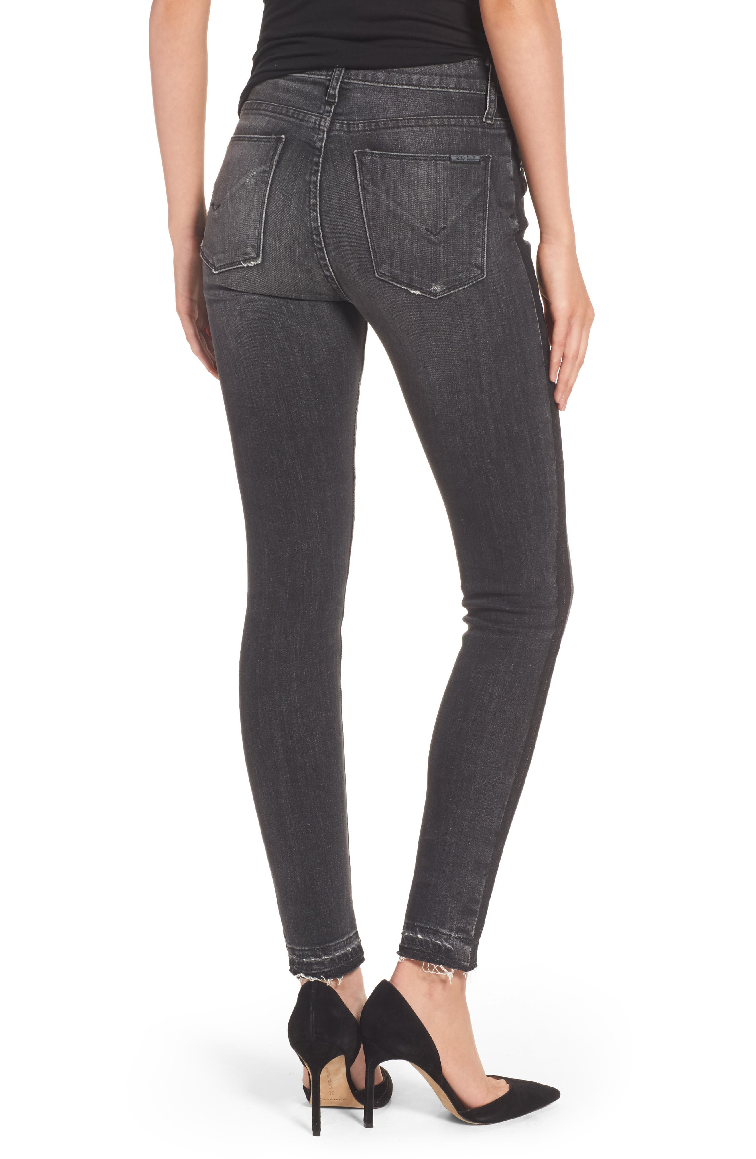 Barbara High Waist Super Skinny Jeans,                             Alternate thumbnail 2, color,                             Onix