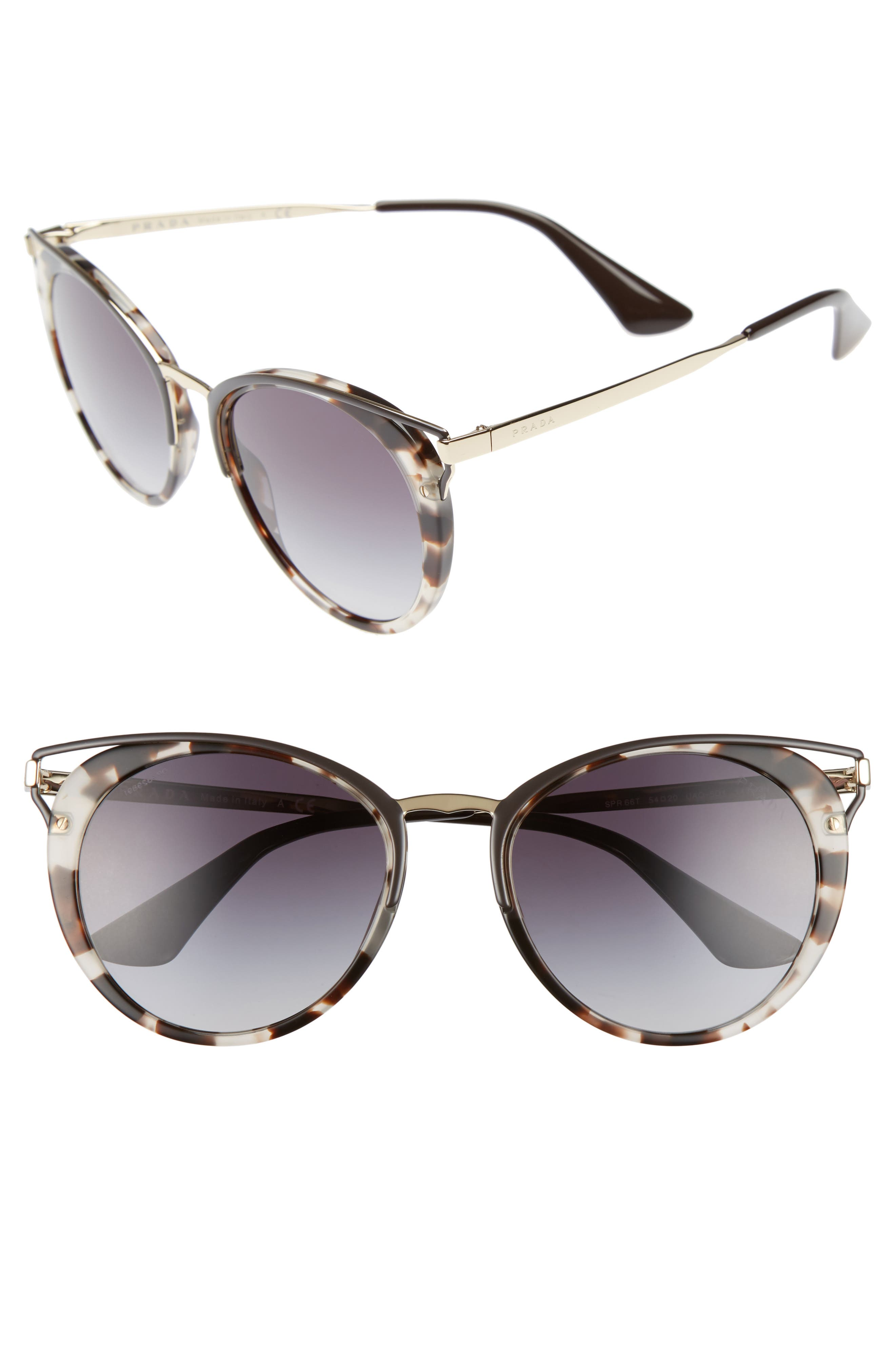 Prada 54mm Gradient Sunglasses