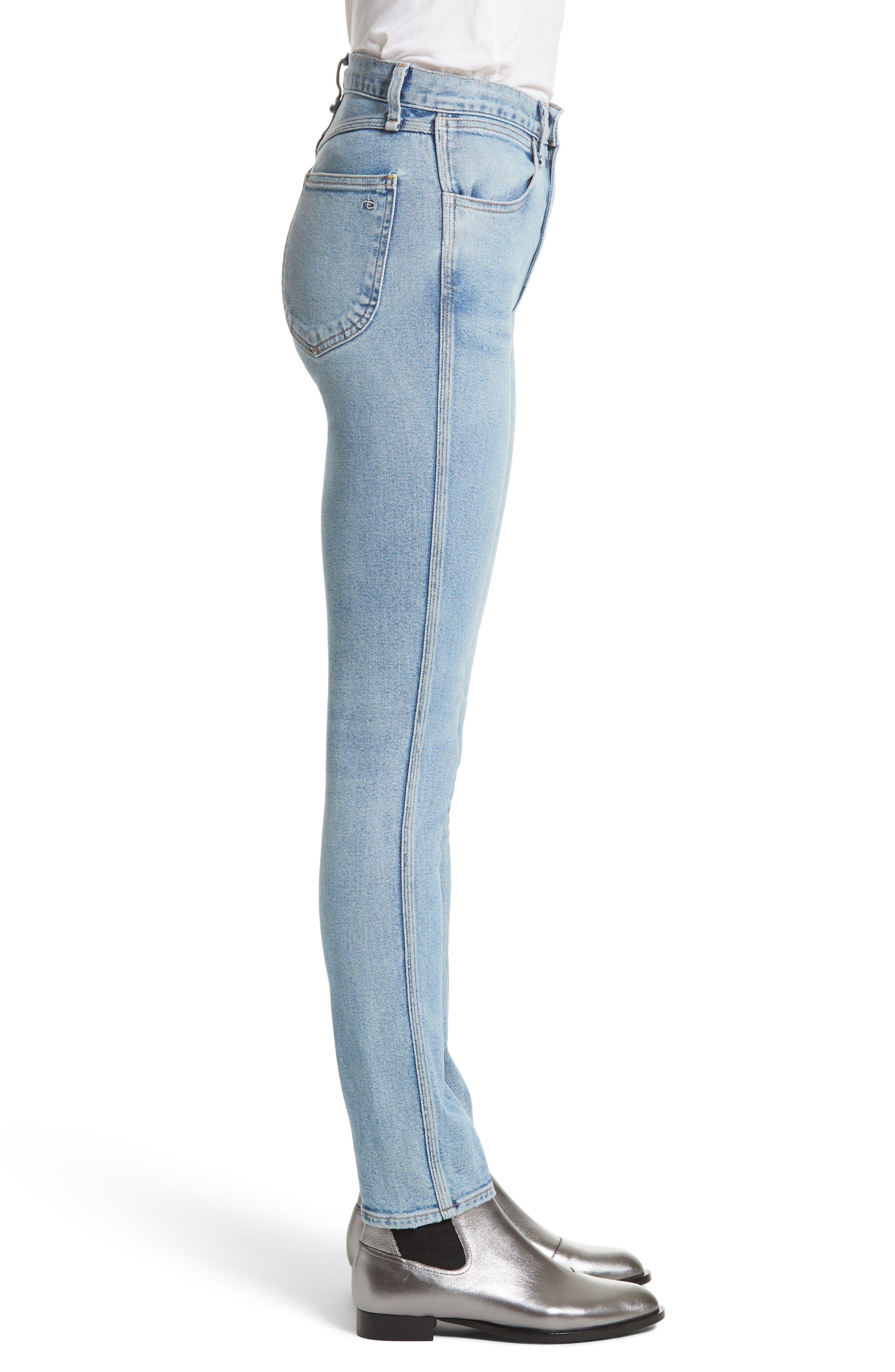 Alternate Image 4  - rag & bone/JEAN Lou High Waist Skinny Jeans (Hotbird)