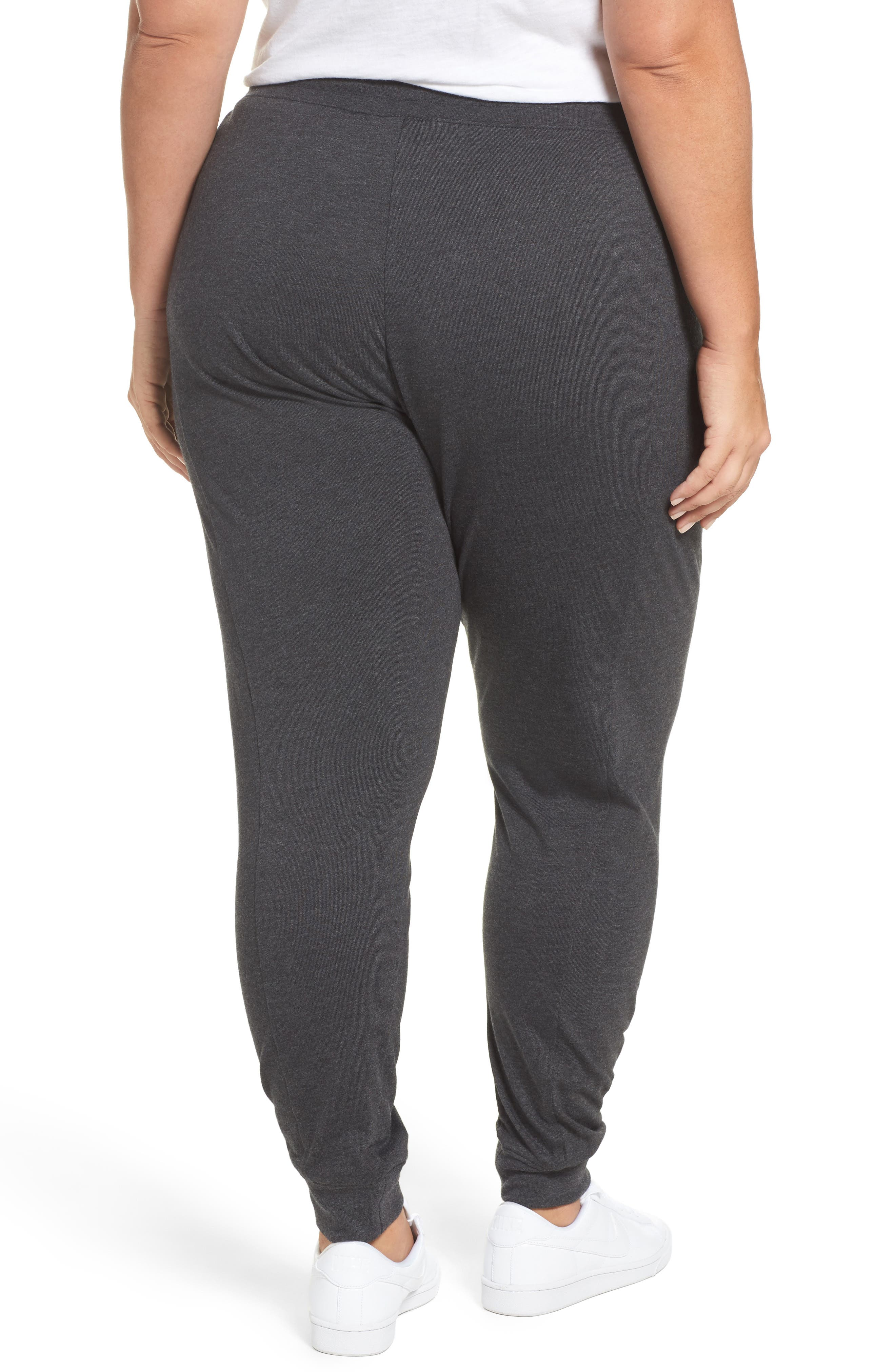 Sportswear Gym Classic Pants,                             Alternate thumbnail 3, color,                             Black Heather/ Sail