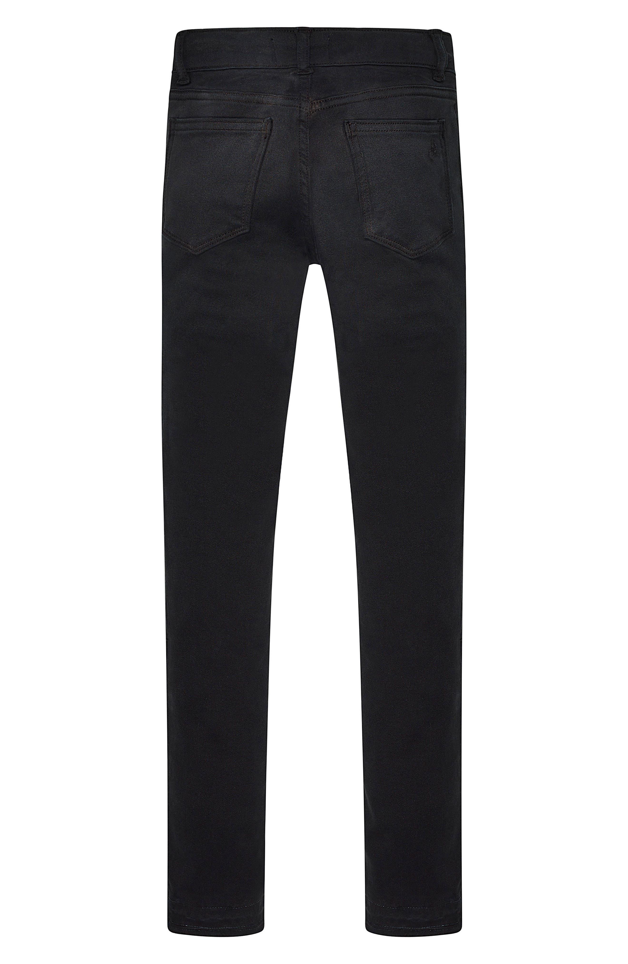 Moto Skinny Jeans,                             Alternate thumbnail 2, color,                             Washed Black Moto