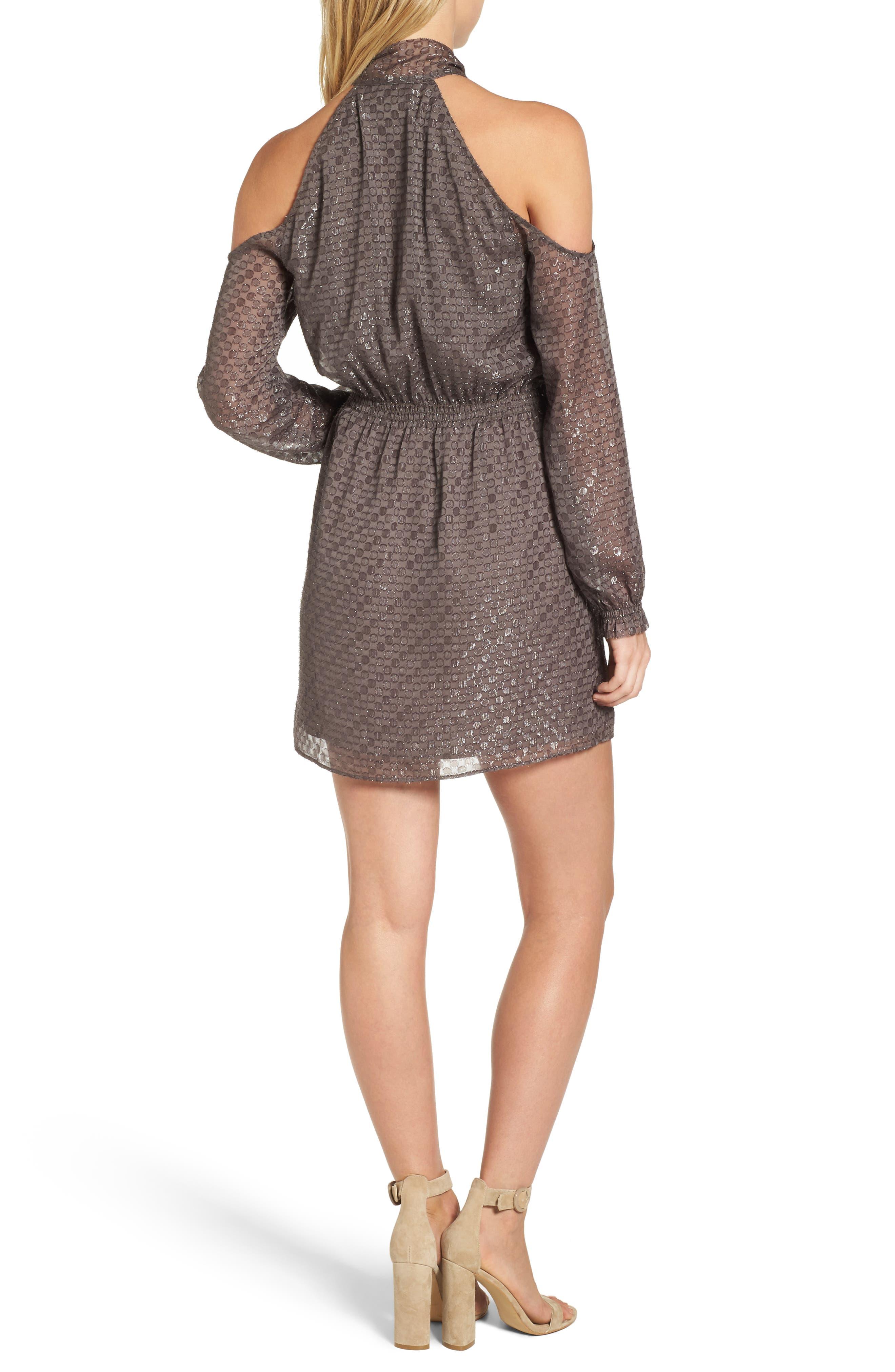 Cornelia Blouson Dress,                             Alternate thumbnail 2, color,                             Brown