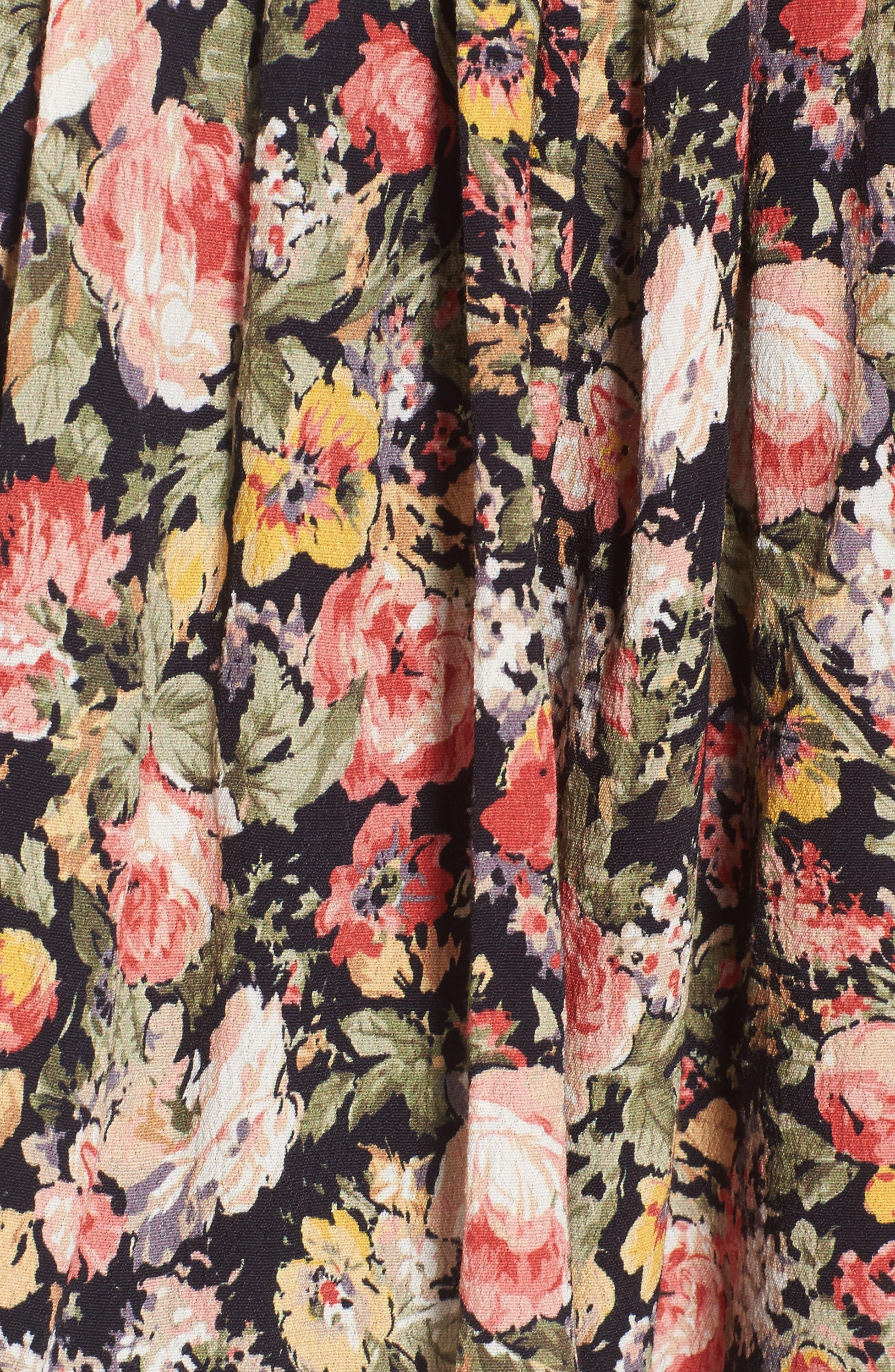 April Floral Minidress,                             Alternate thumbnail 5, color,                             Bouquet