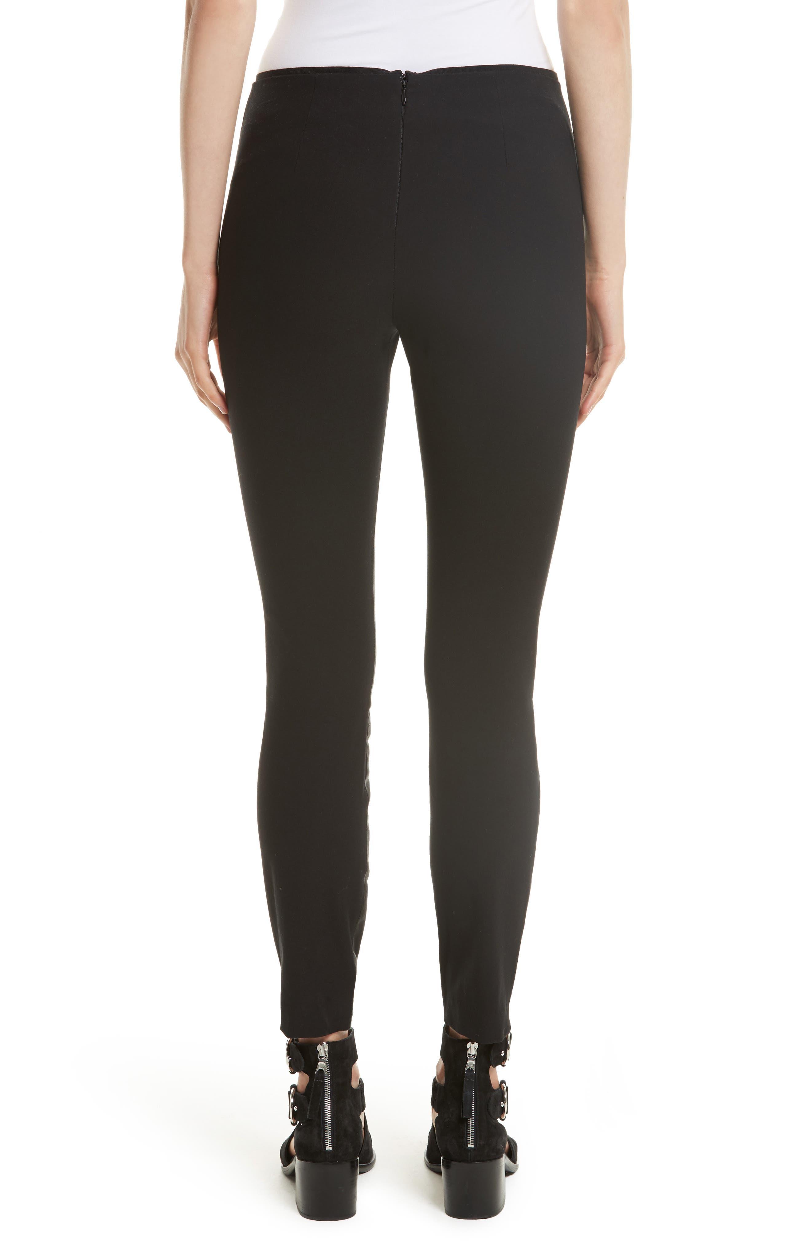 Alternate Image 3  - rag & bone Josephine Leather Front Skinny Pants
