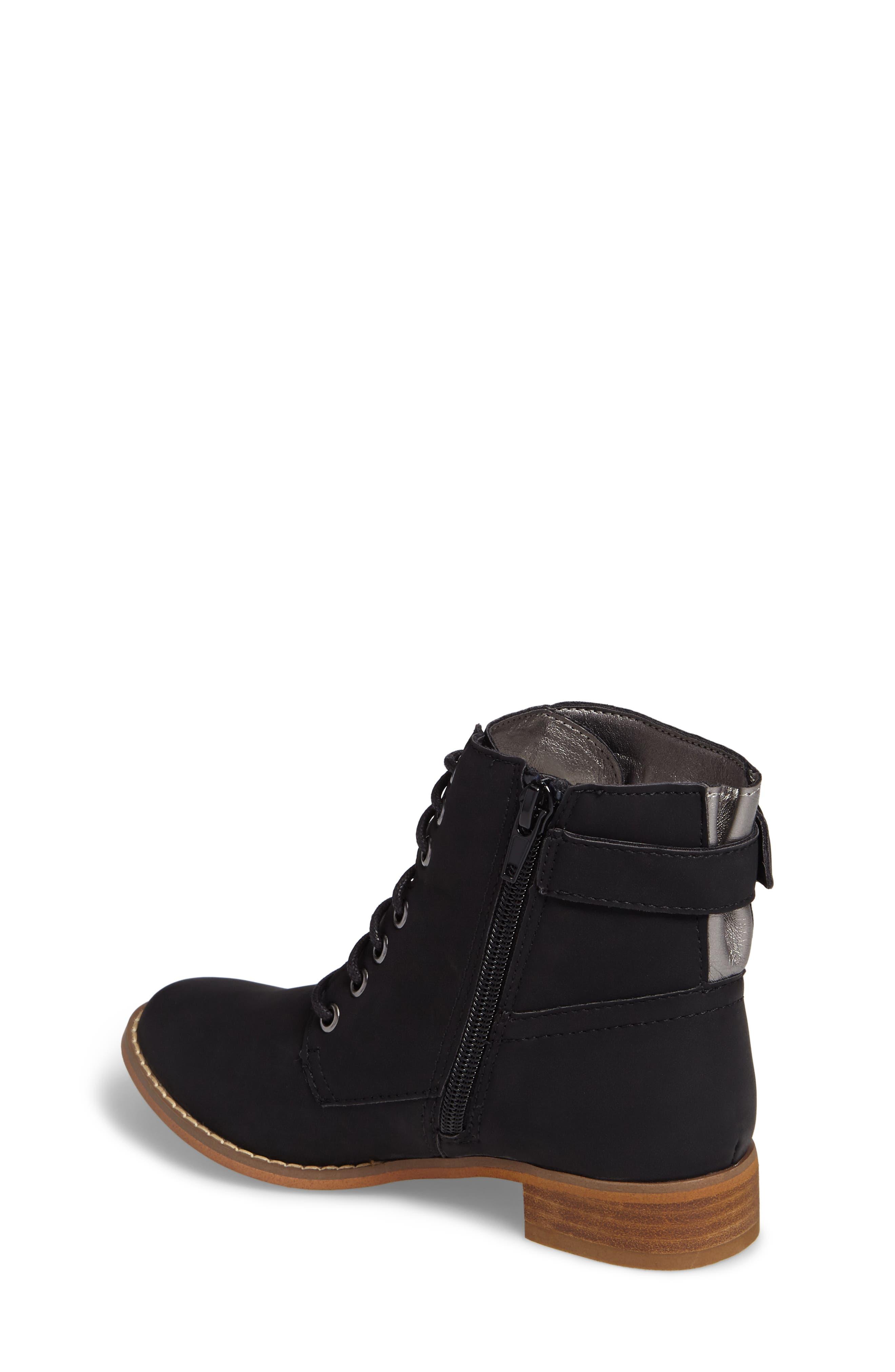 Drea Boot,                             Alternate thumbnail 2, color,                             Black Faux Leather