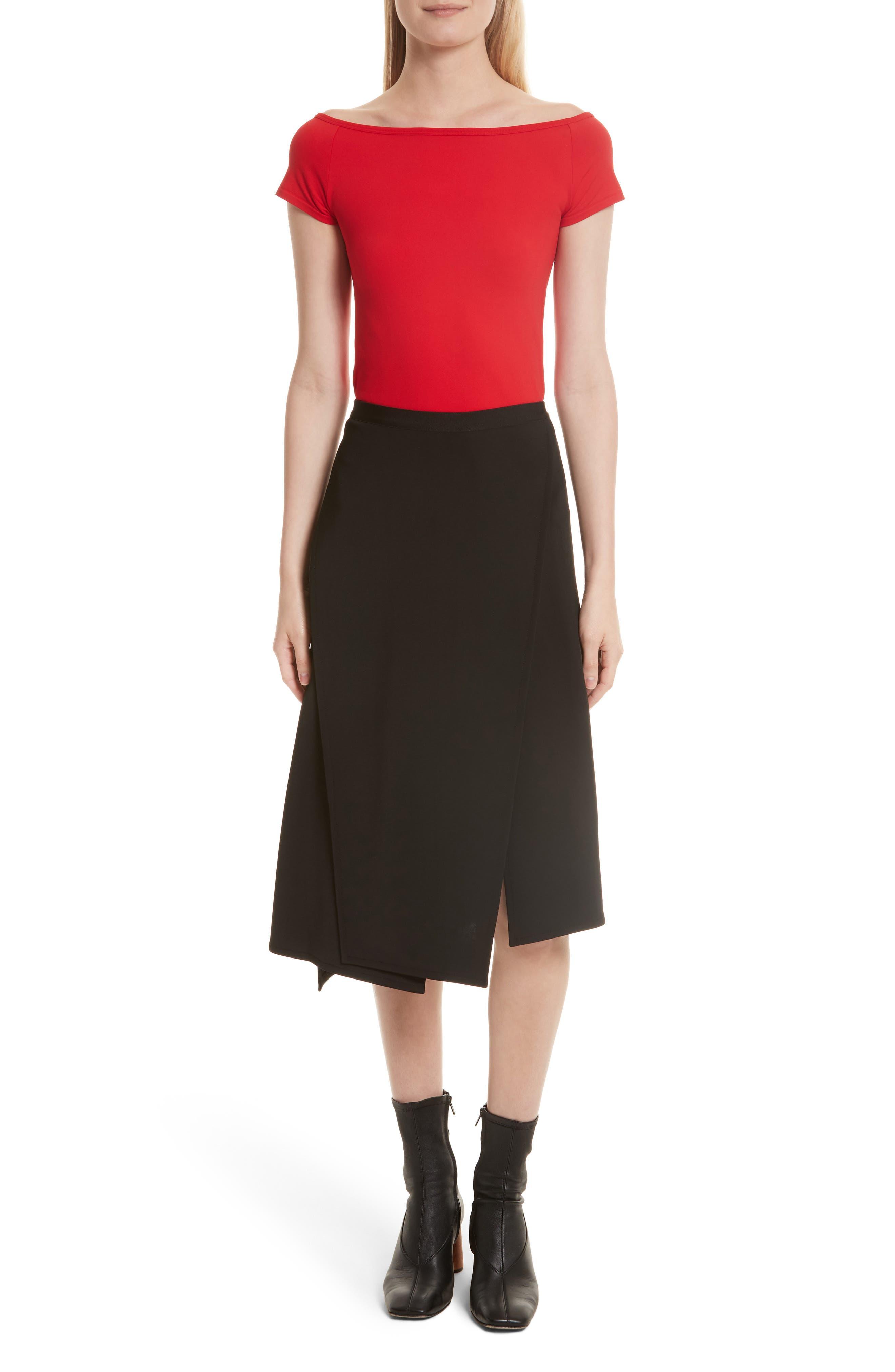 Alternate Image 7  - Helmut Lang Bondage Jersey Asymmetrical Skirt