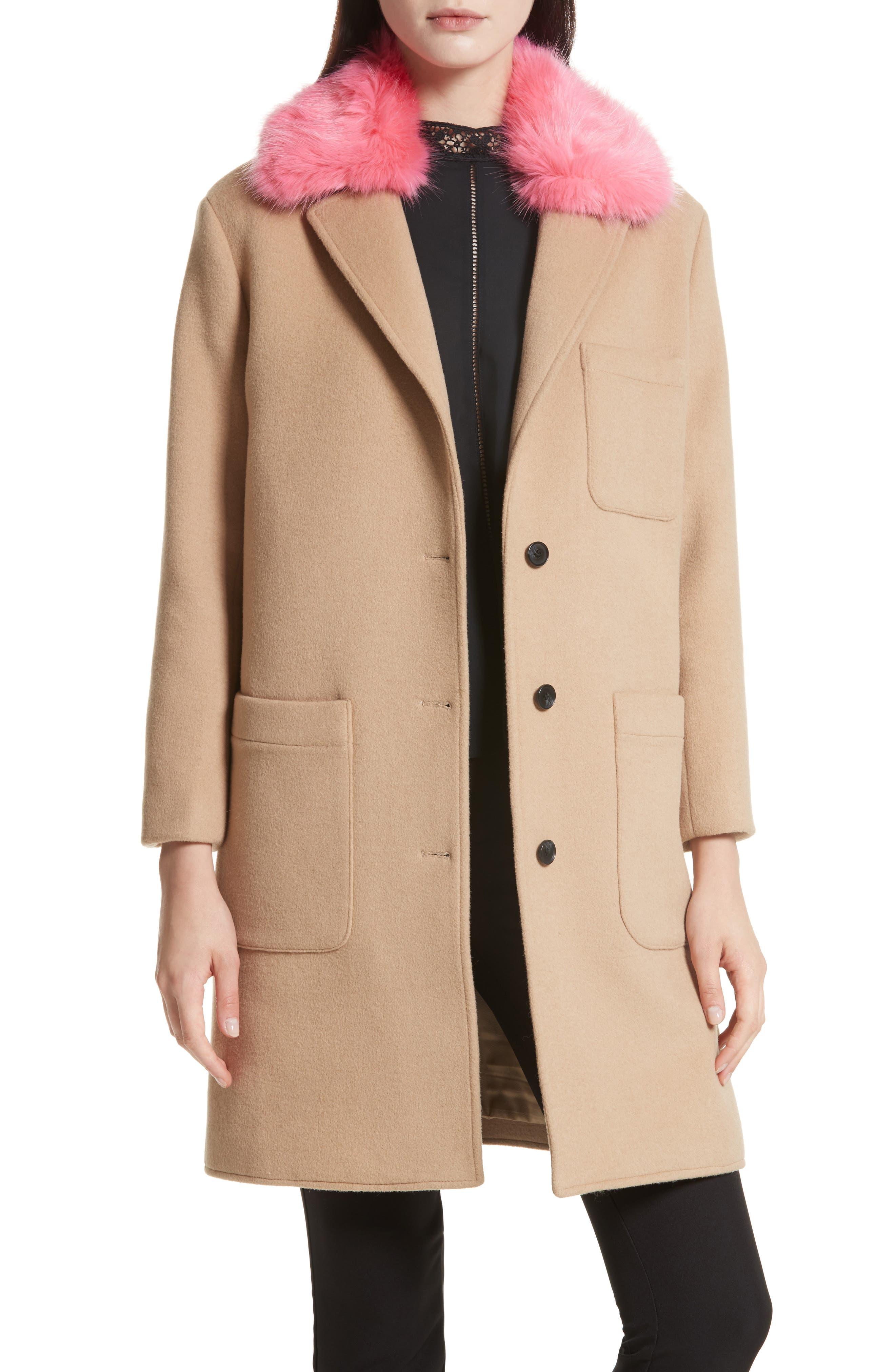 Allegra Wool Blend Coat,                         Main,                         color, Camel