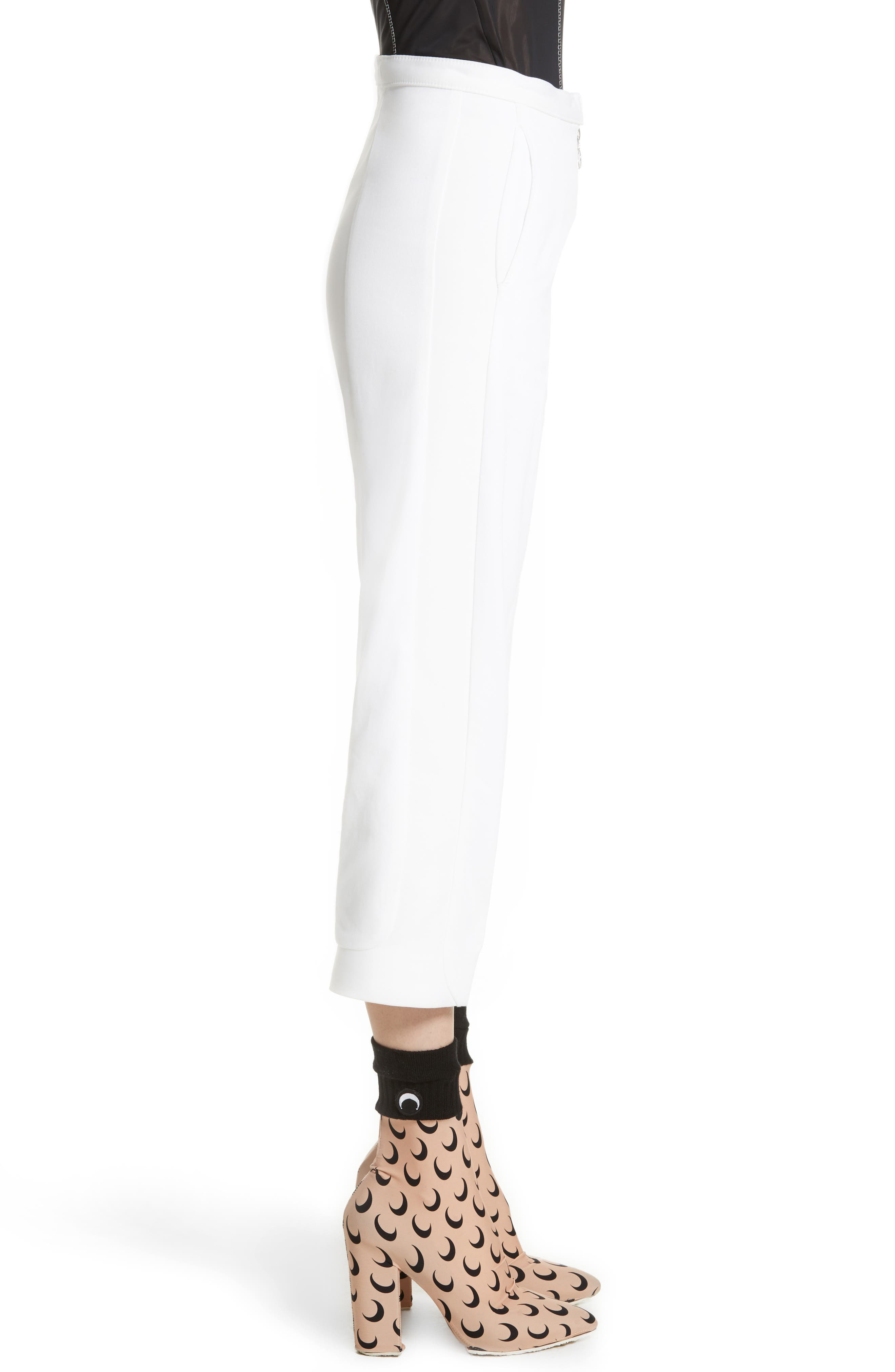 Crop Trousers,                             Alternate thumbnail 4, color,                             White