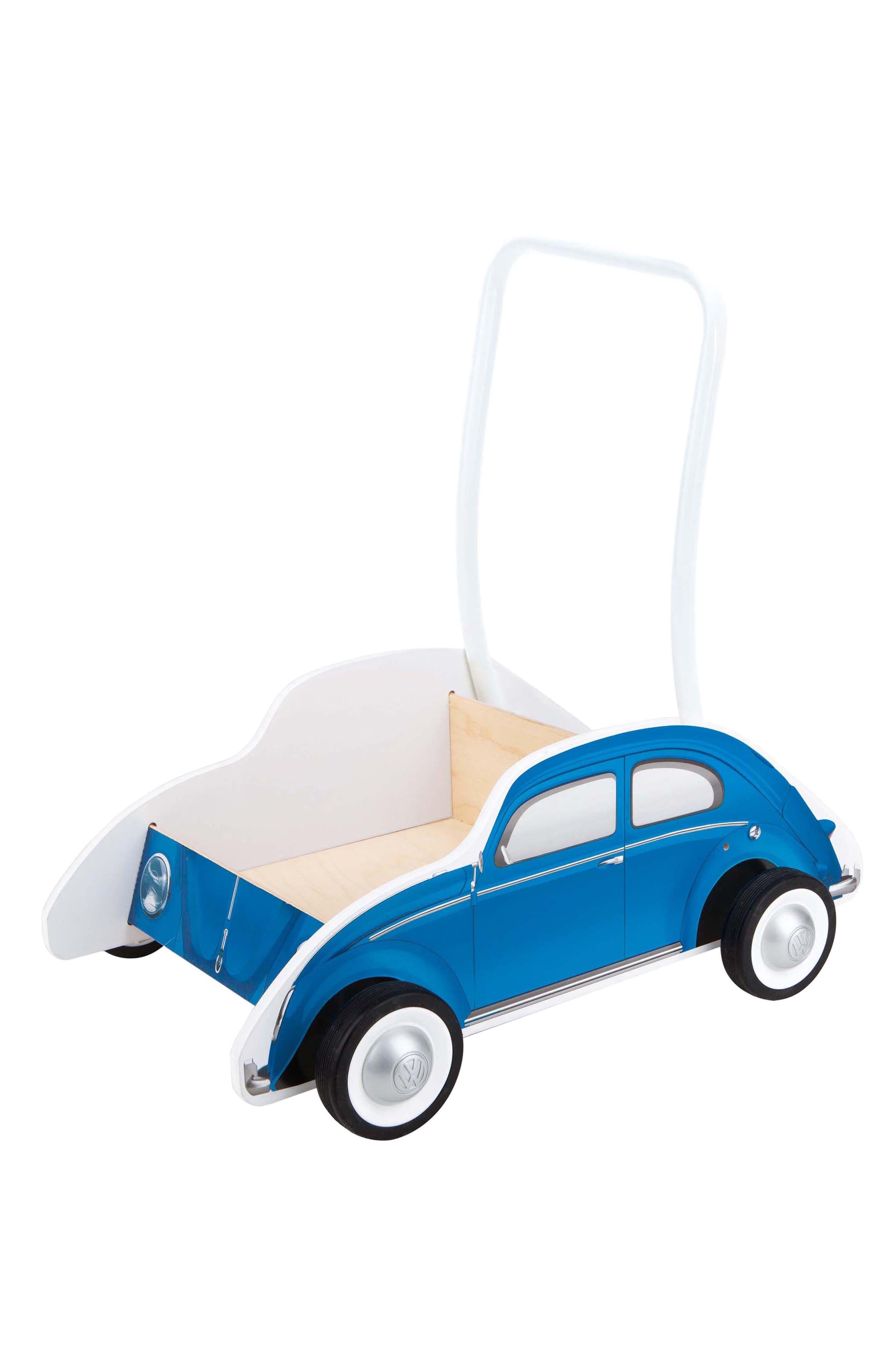 Wooden Push Car,                             Alternate thumbnail 4, color,                             Blue