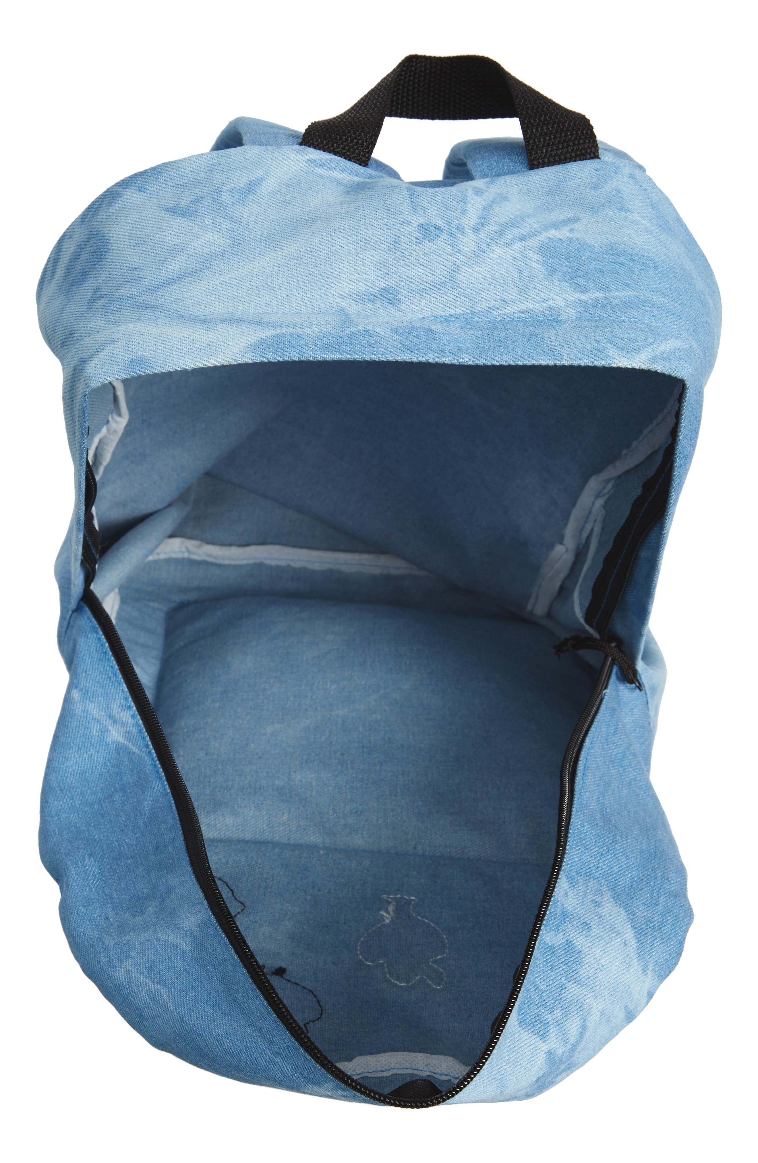 Accessory Collective Tie Dye Backpack,                             Alternate thumbnail 4, color,                             Blue