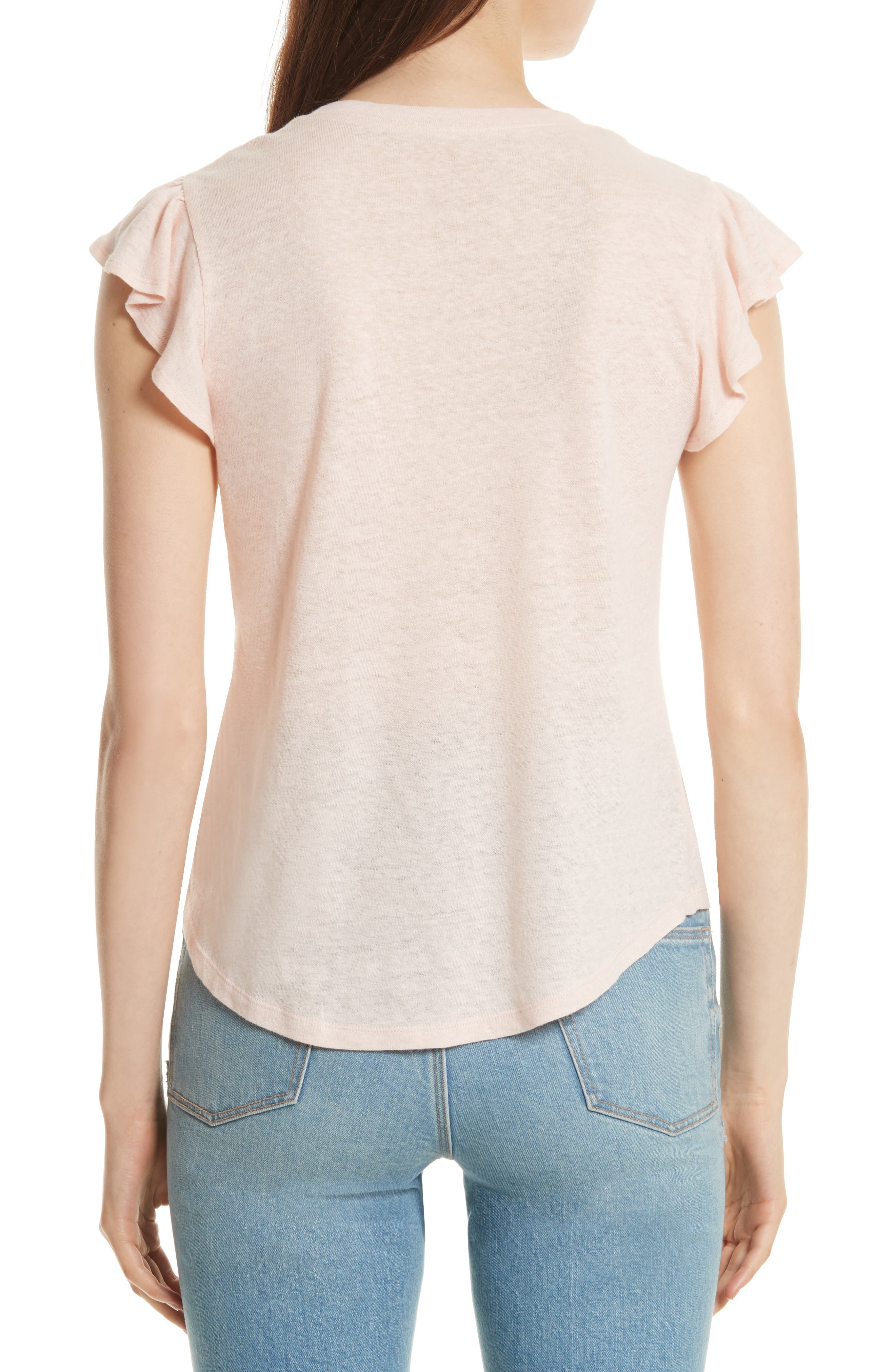Alternate Image 2  - La Vie Rebecca Taylor Ruffle Sleeve Washed Jersey Top
