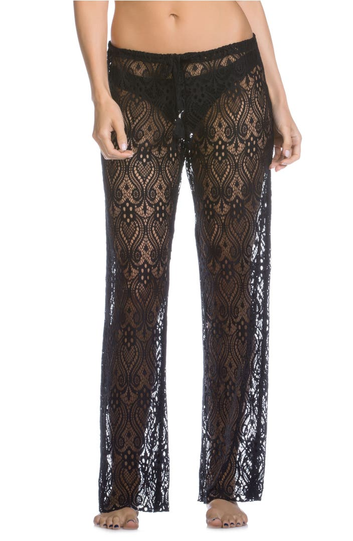 Becca poetic lace cover up pants nordstrom for Travel pants petite