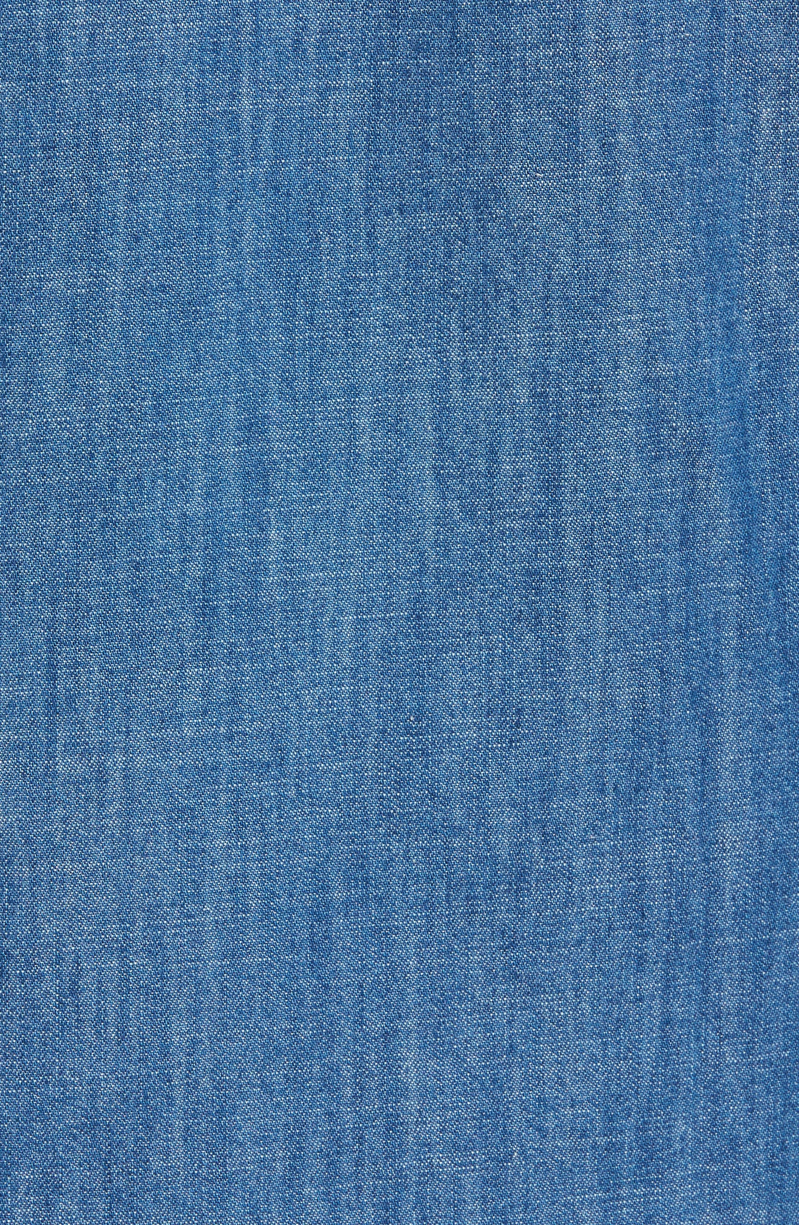 Lance Regular Fit Two-Pocket Denim Sport Shirt,                             Alternate thumbnail 6, color,                             Blue