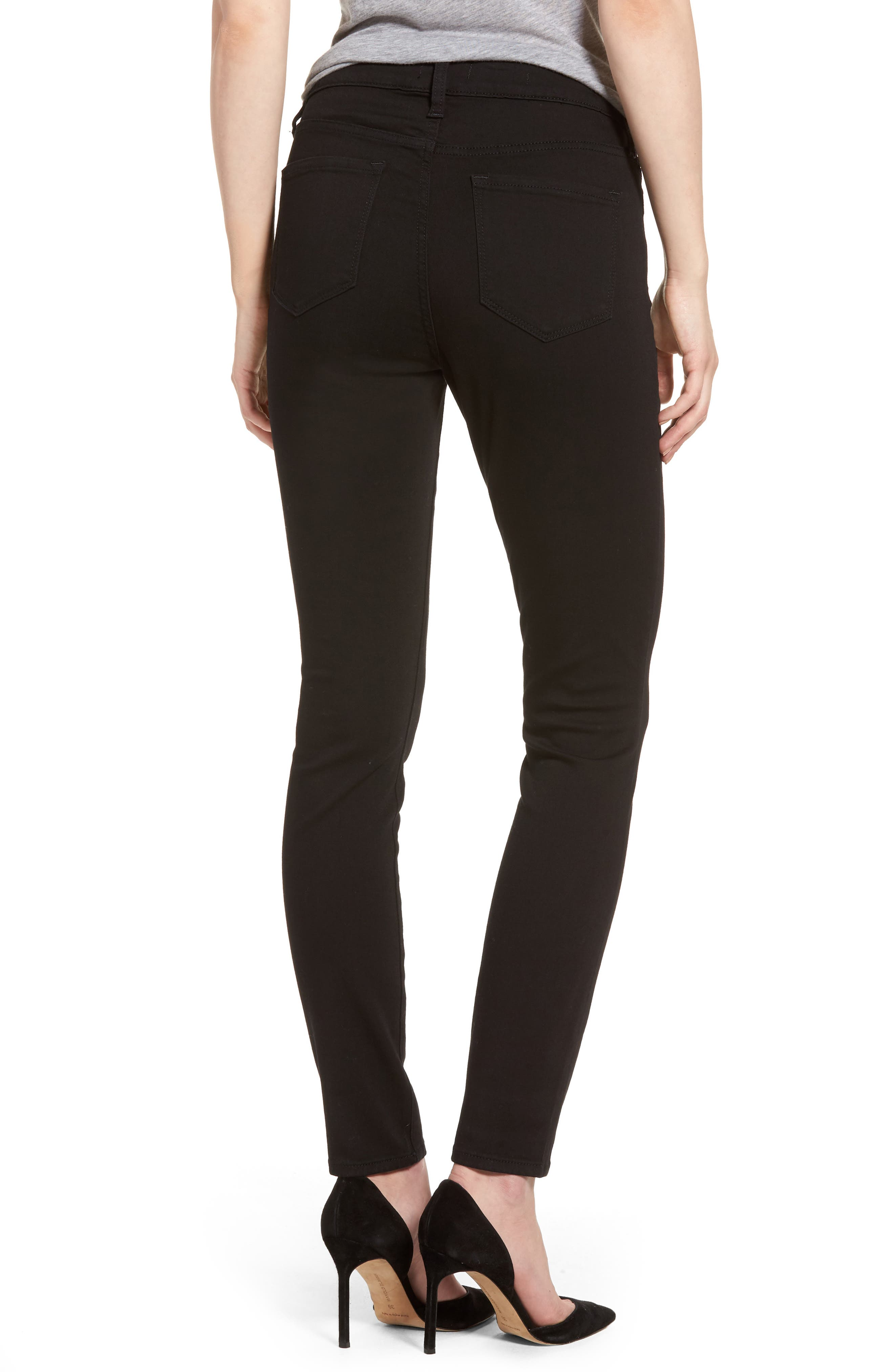 Ami Stretch Skinny Jeans,                             Alternate thumbnail 2, color,                             Black