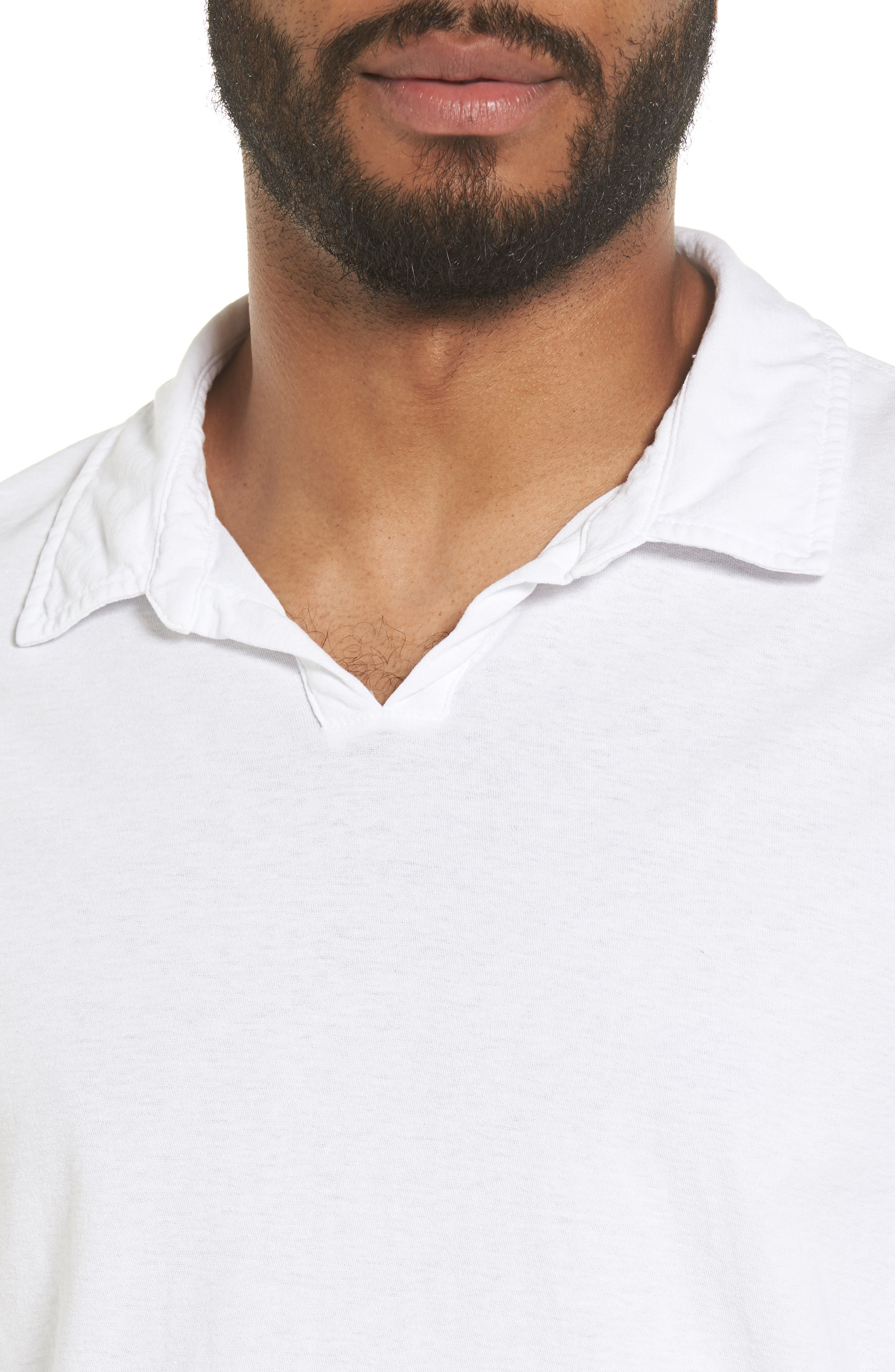 Alternate Image 4  - James Perse Long Sleeve Cotton Polo