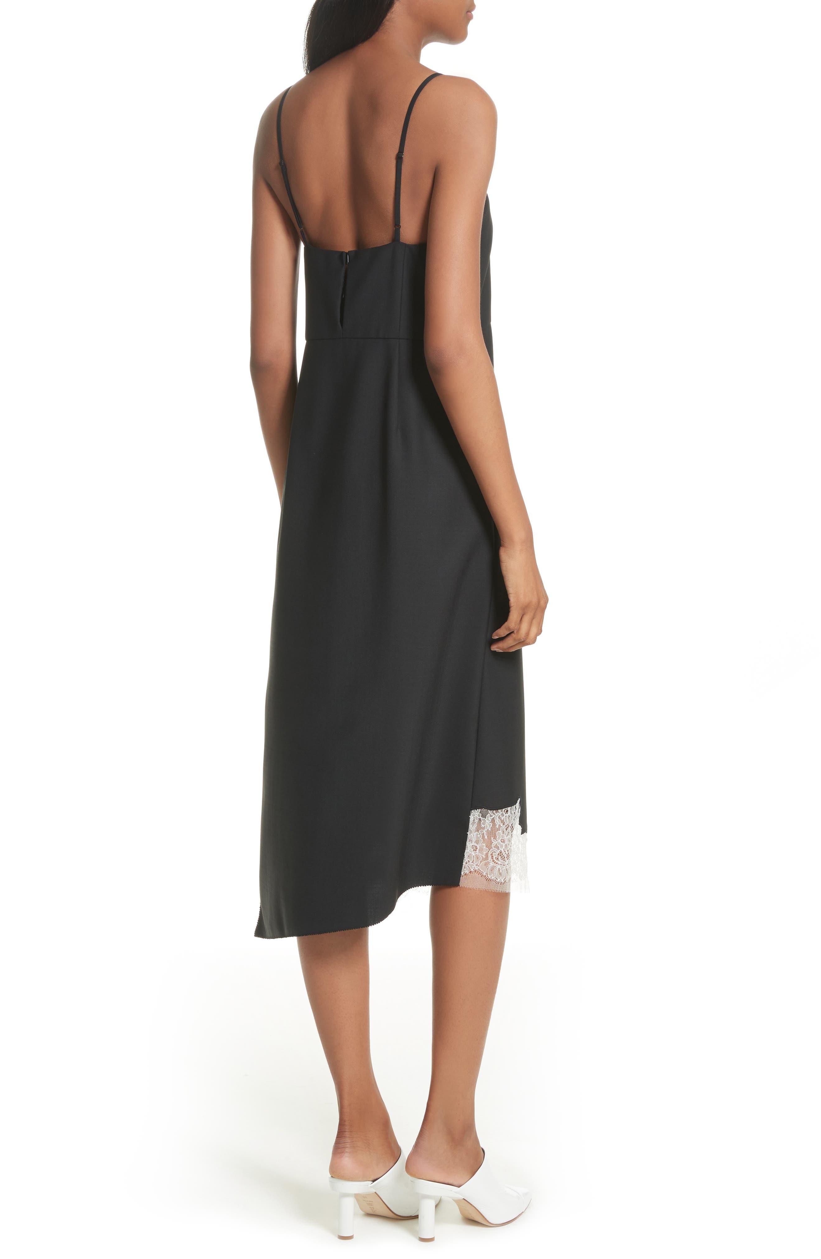 Lou Lou Appliqué Dress,                             Alternate thumbnail 2, color,                             Black