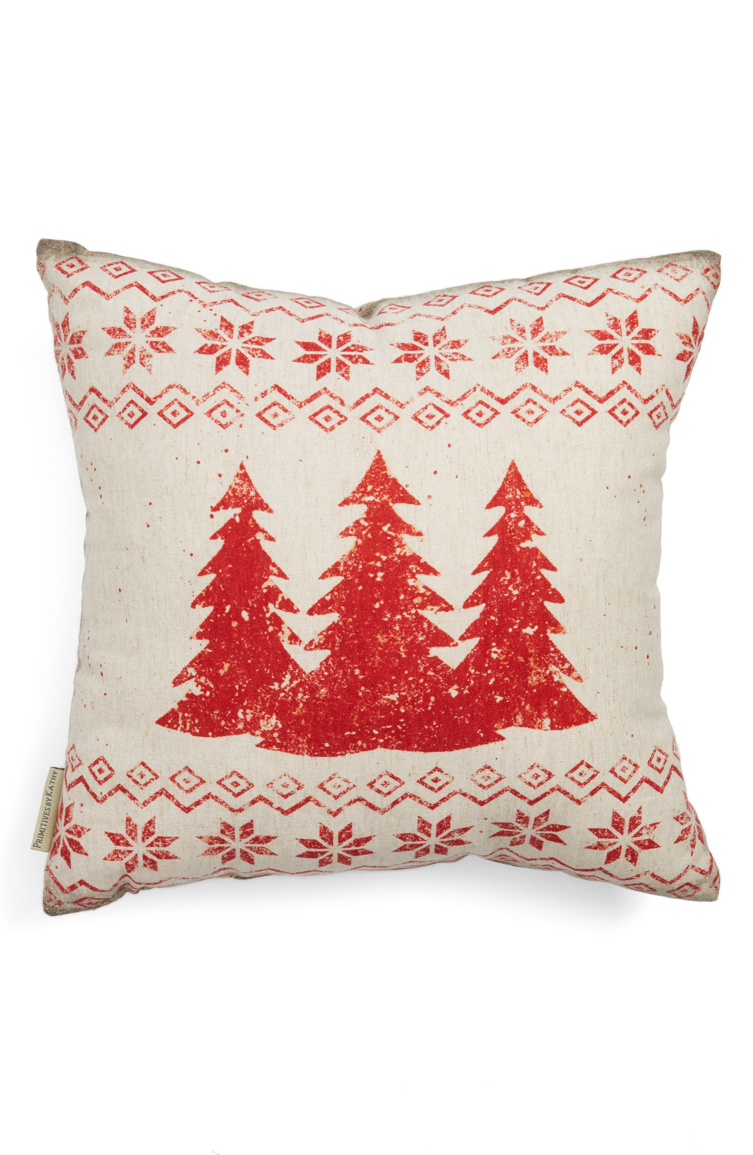 Merry Christmas Pillow,                             Main thumbnail 1, color,                             Ivory