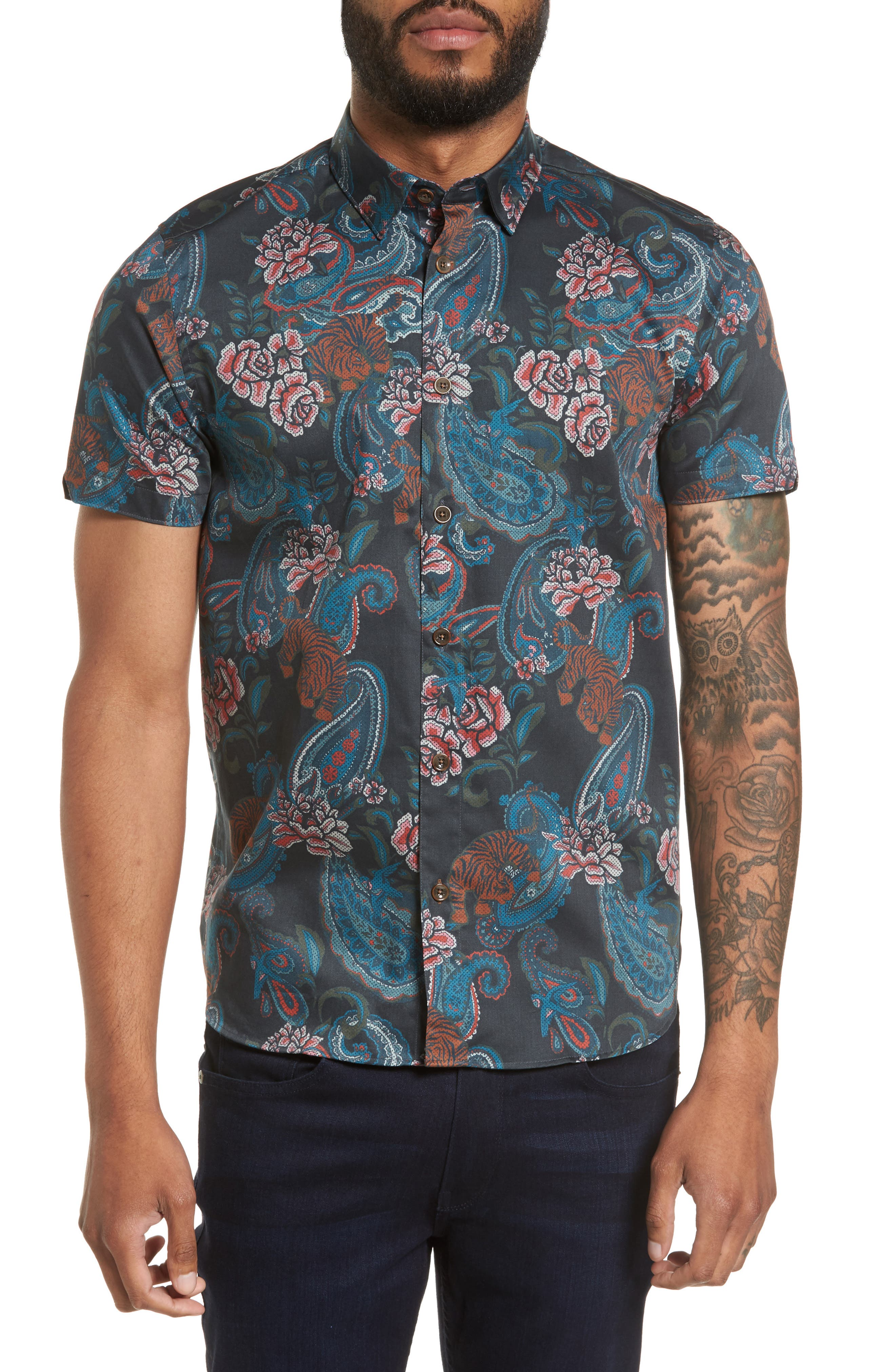 Ted Baker London Tyger Modern Slim Fit Sport Shirt