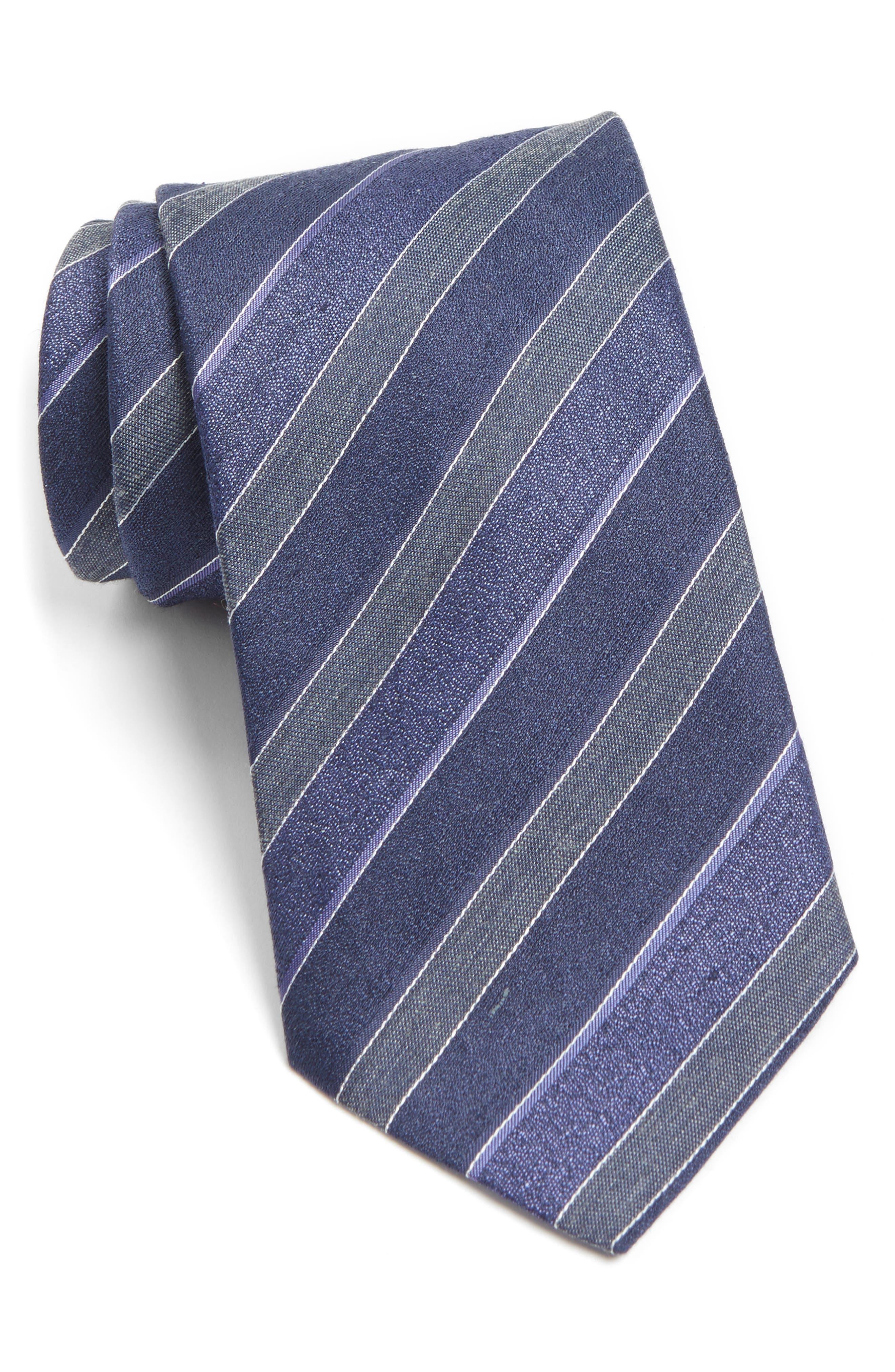 JOHN VARVATOS STAR USA Stripe Silk Blend Tie