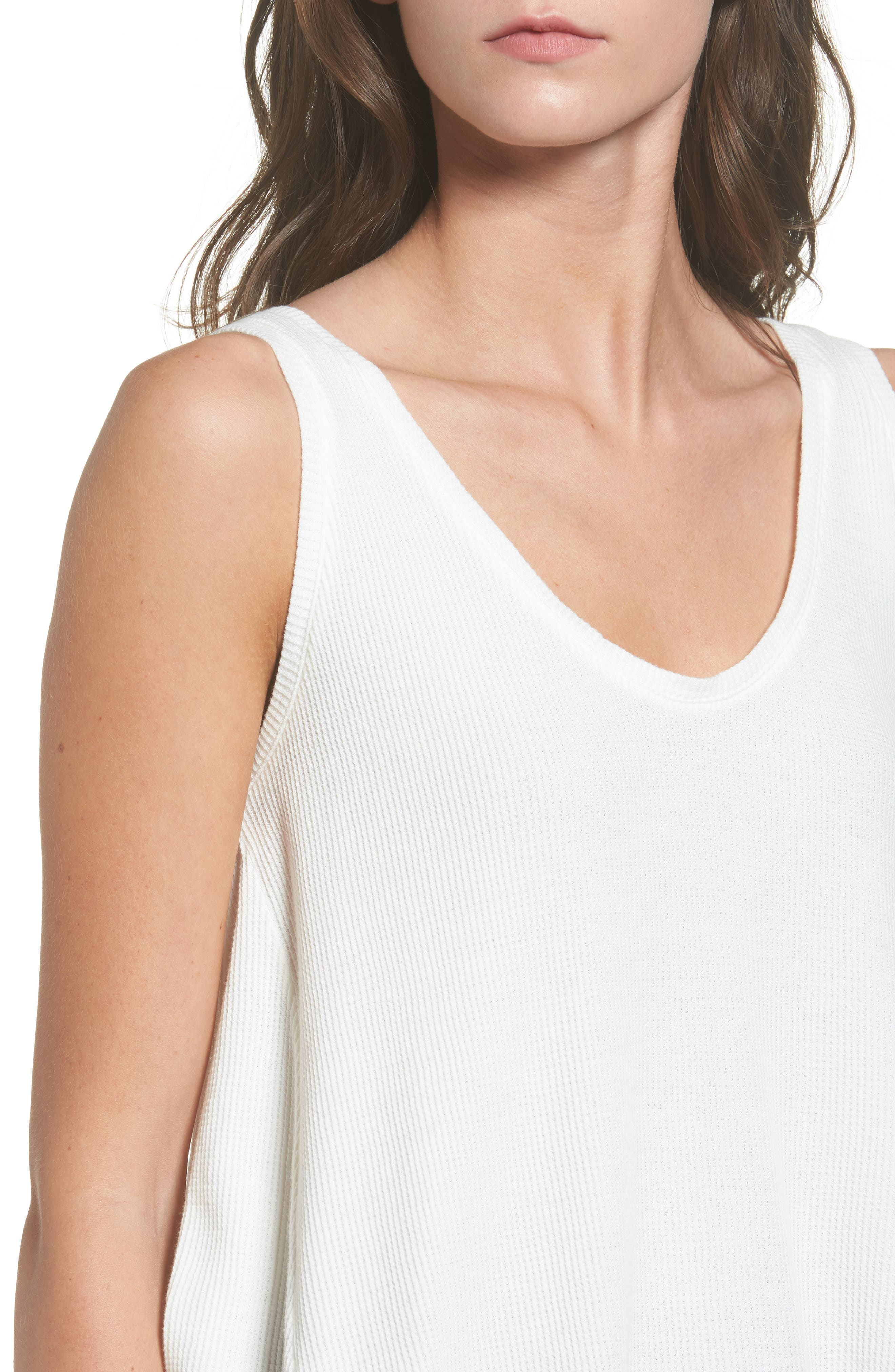 Washed Thermal Tank,                             Alternate thumbnail 4, color,                             Ivory Egret