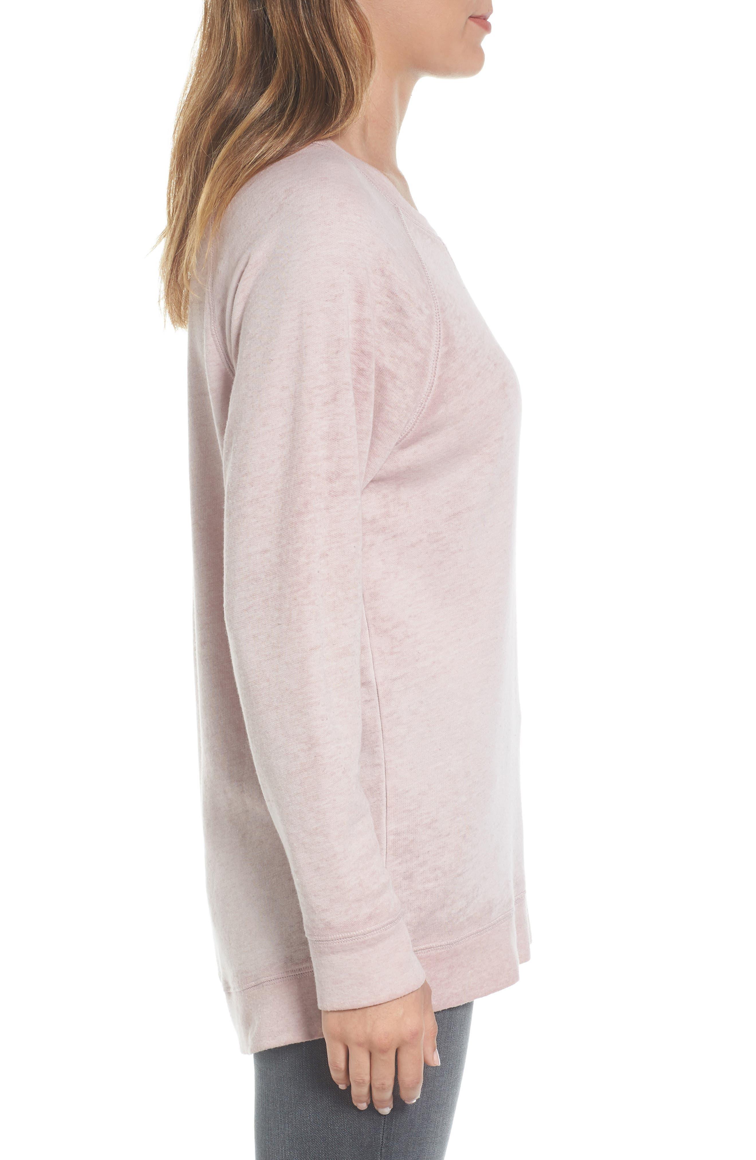 Alternate Image 3  - Caslon® Burnout Sweatshirt (Regular & Petite)
