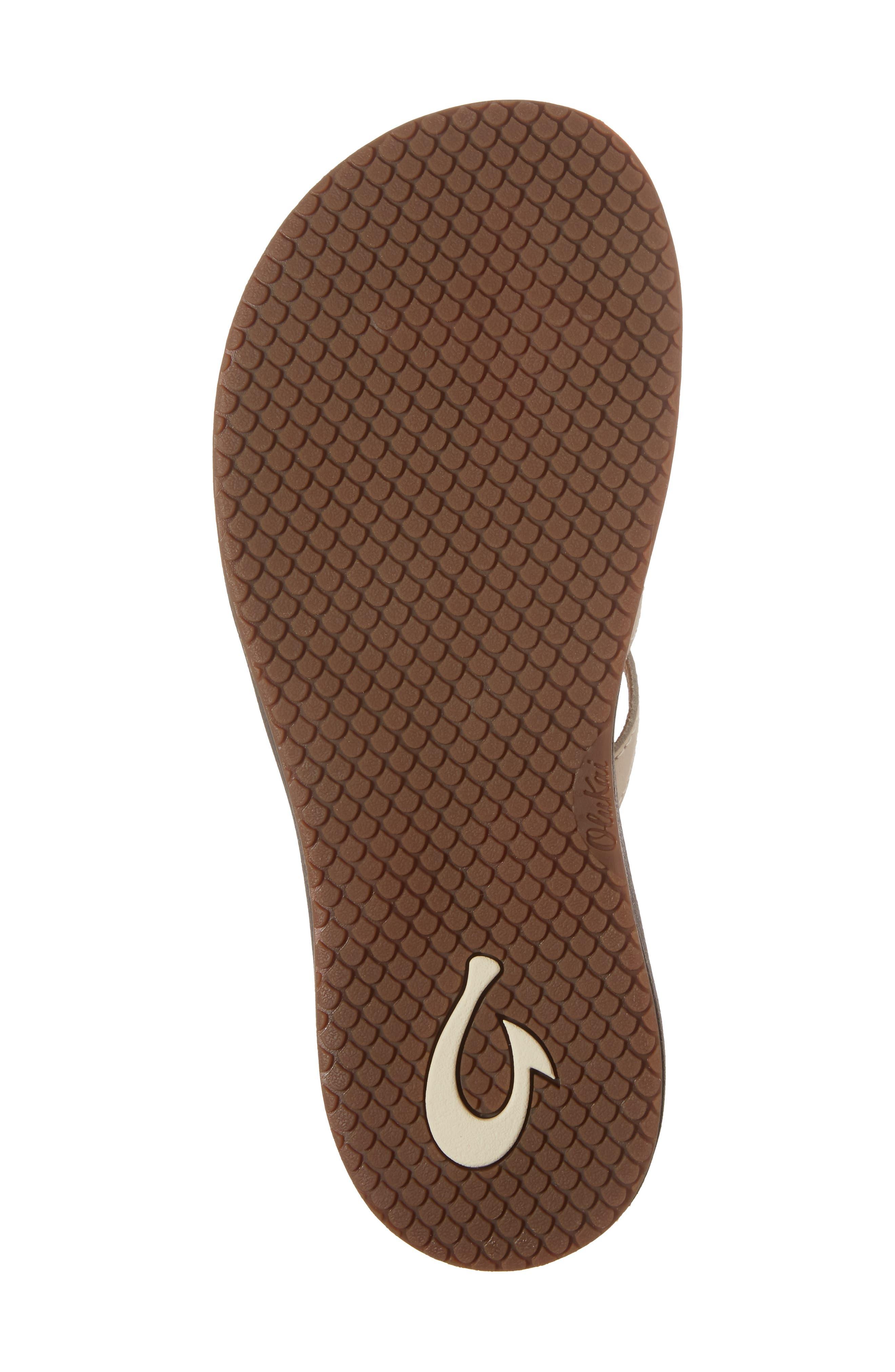 Honoka'a Buckle Flip Flop,                             Alternate thumbnail 6, color,                             Tapa/ Sahara Leather
