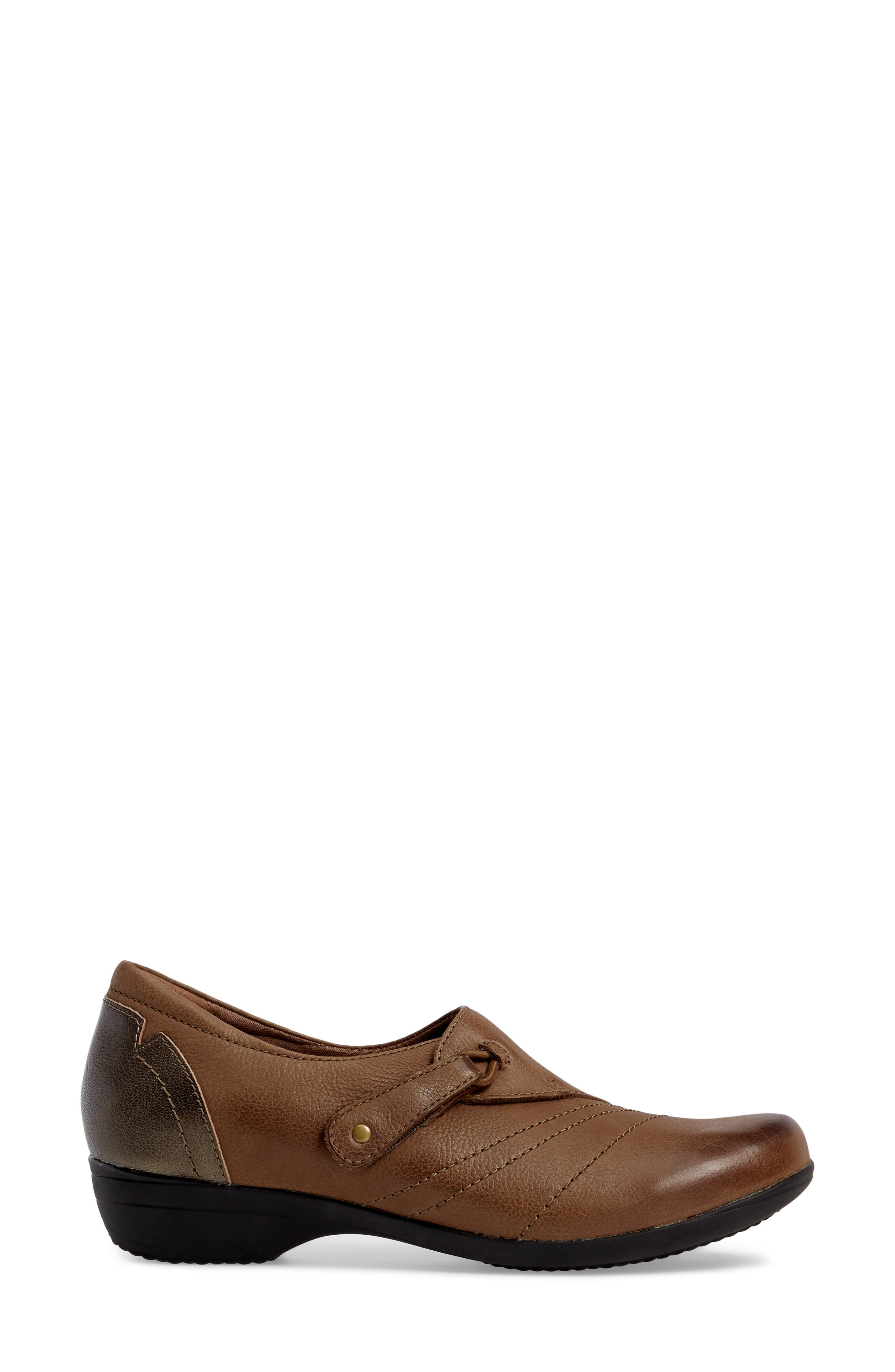 Franny Loafer,                             Alternate thumbnail 3, color,                             Taupe Burnished Nappa Leather