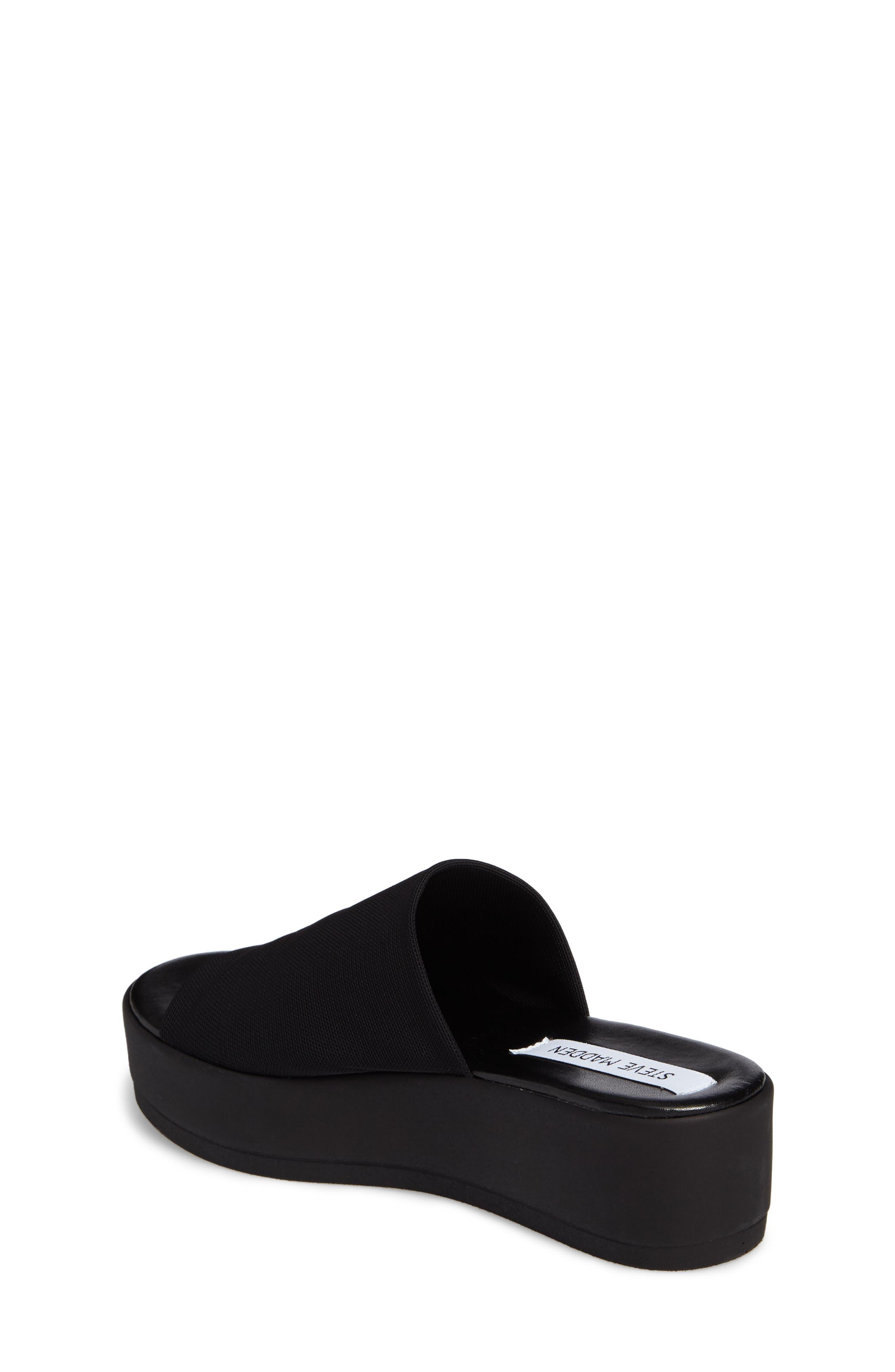 Jslinky Platform Slide Sandal,                             Alternate thumbnail 2, color,                             Black