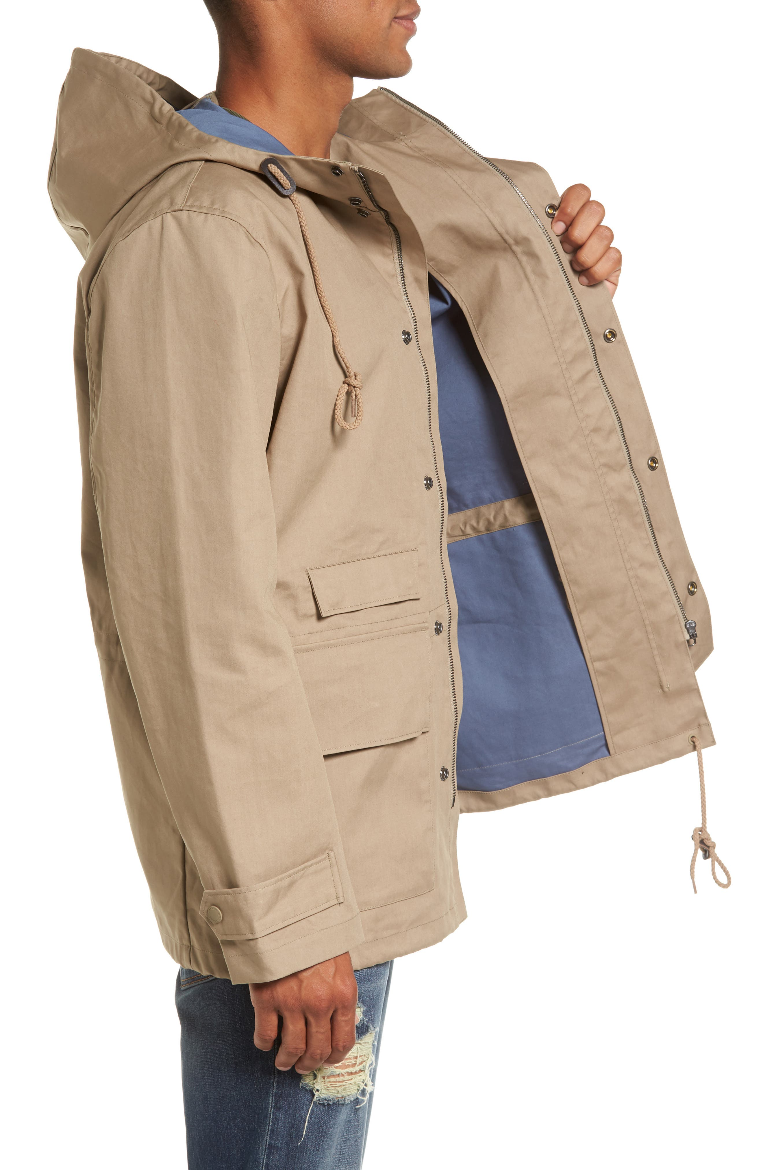 Alternate Image 3  - French Connection Regular Fit Hooded Rain Jacket