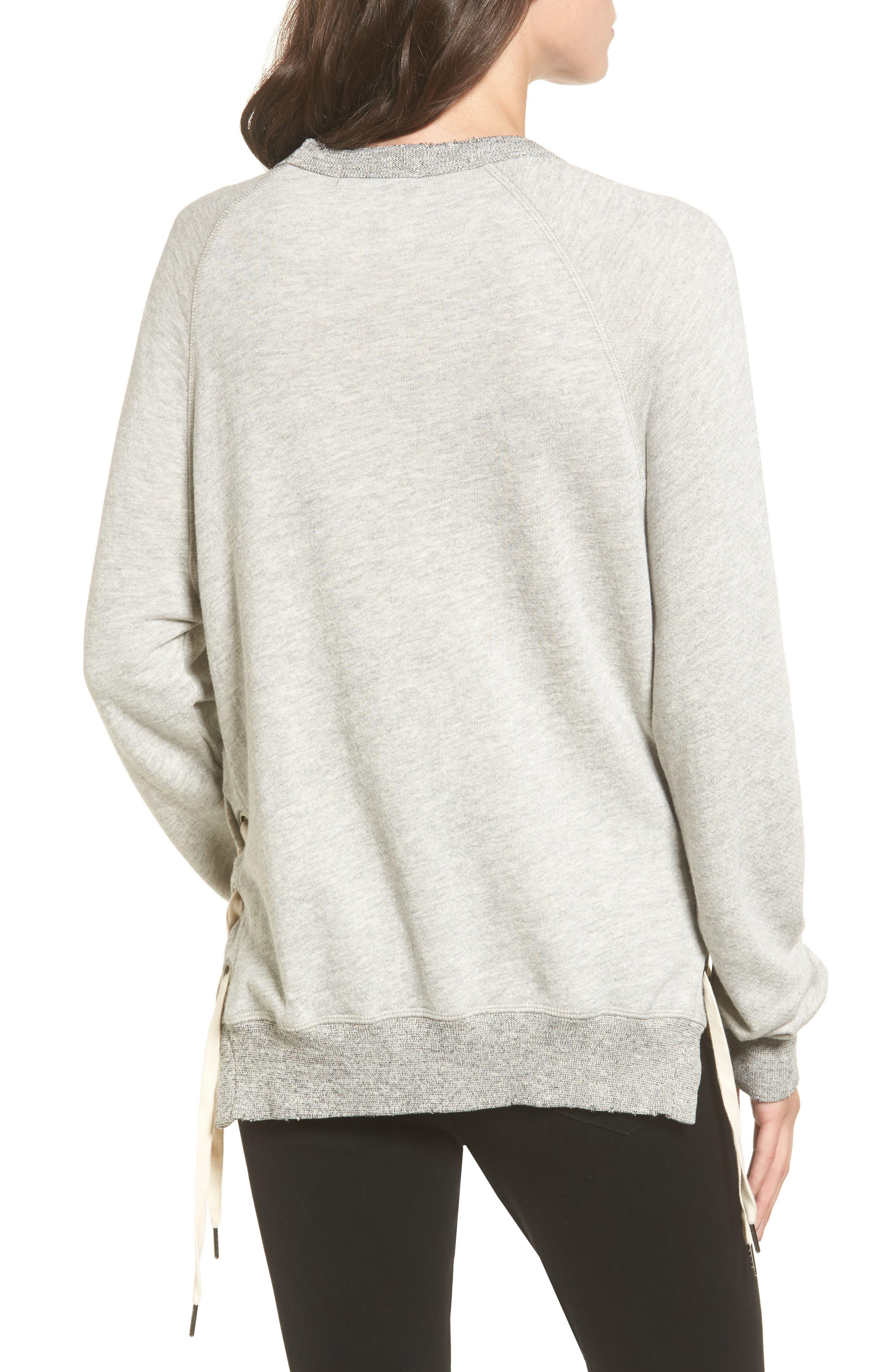 Alternate Image 2  - n:PHILANTHROPY Felix Lace-Up Sweatshirt