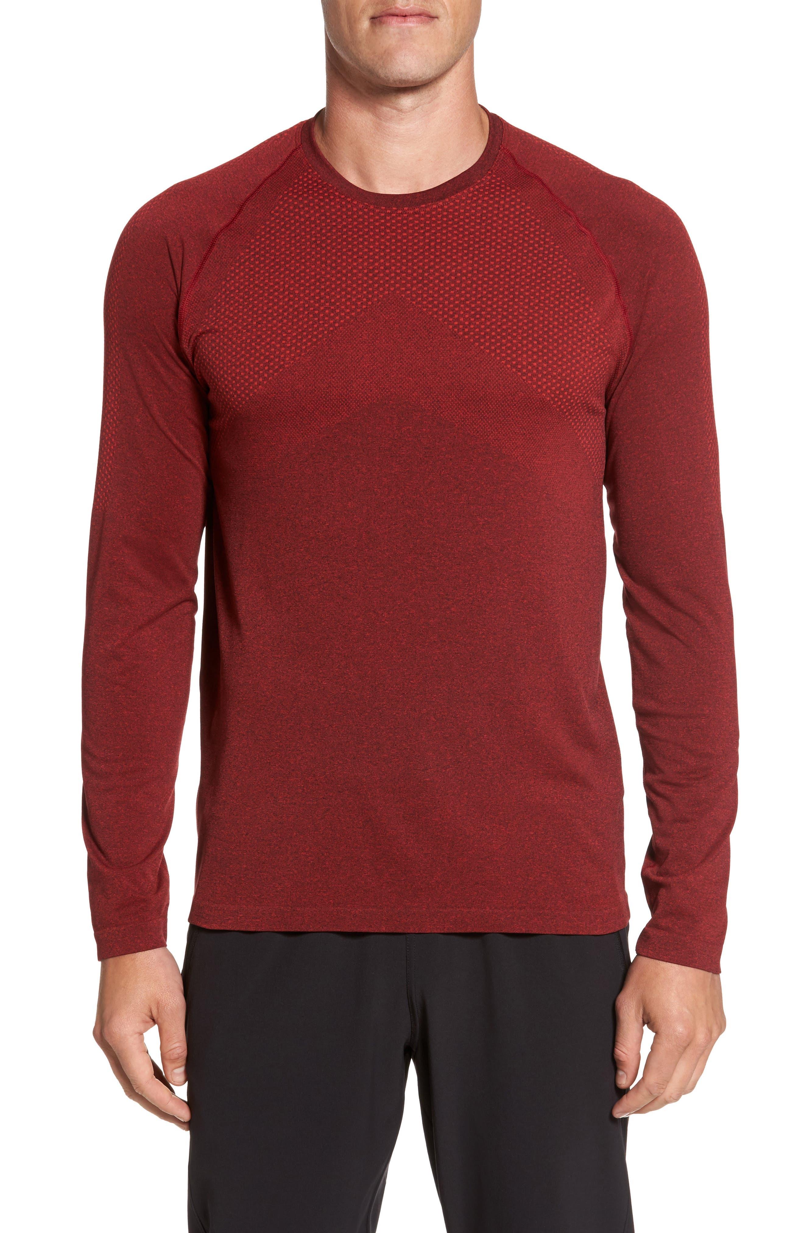 Alternate Image 1 Selected - Zella Zeolite Long Sleeve Performance T-Shirt