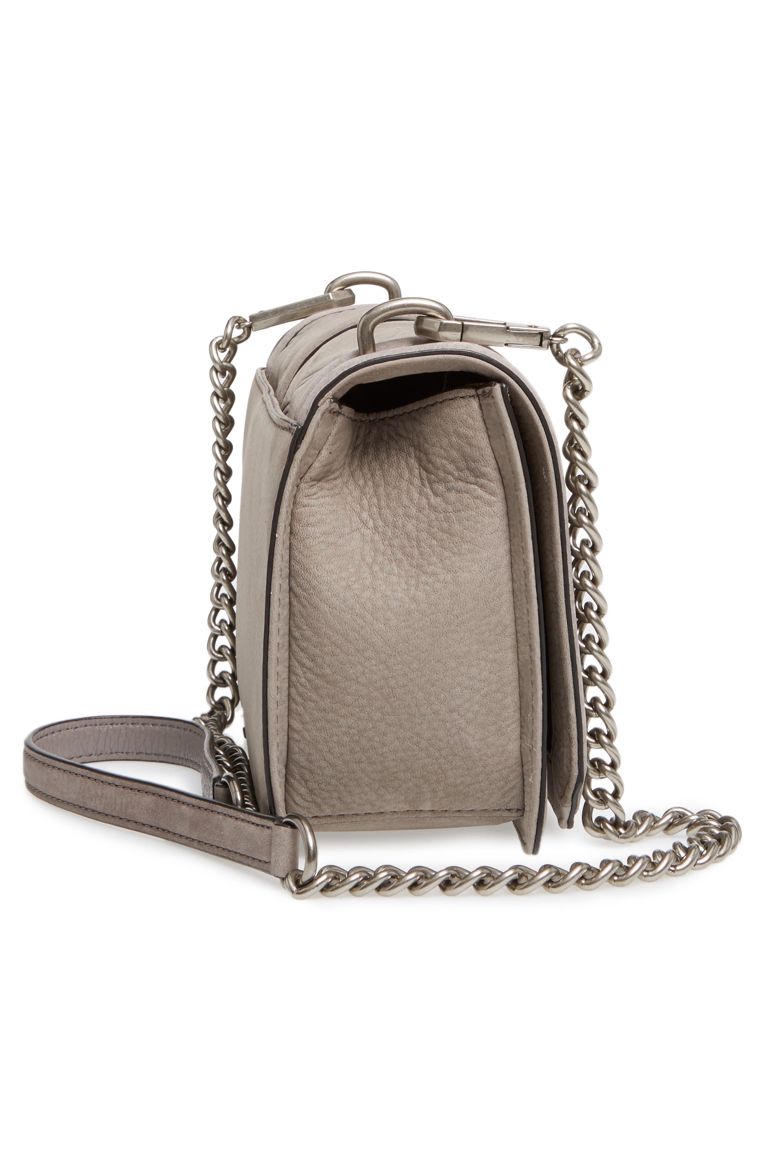 Love Nubuck Crossbody Bag,                             Alternate thumbnail 5, color,                             Grey