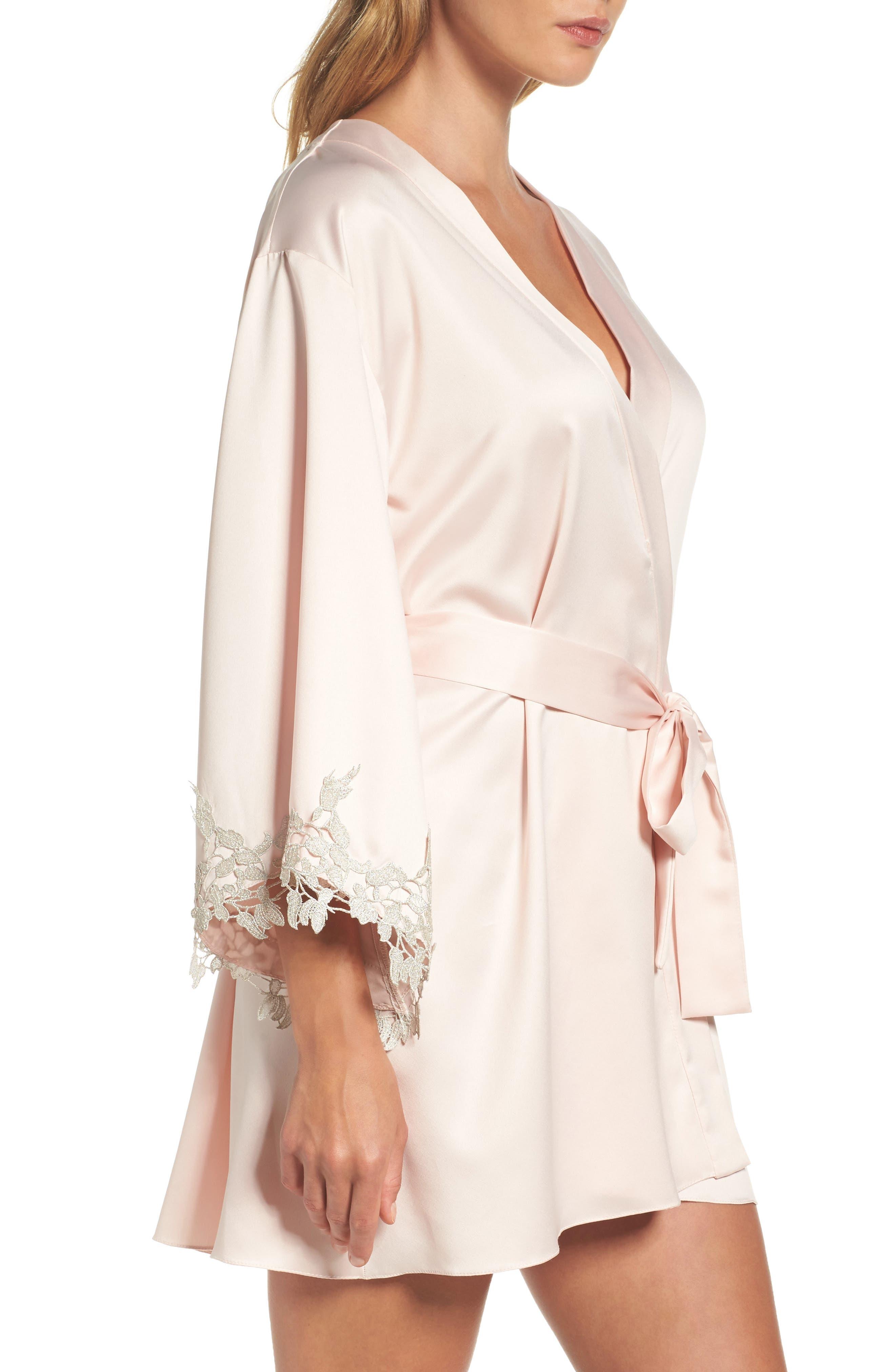 Alternate Image 3  - Flora Nikrooz Alessia Charm Satin Robe