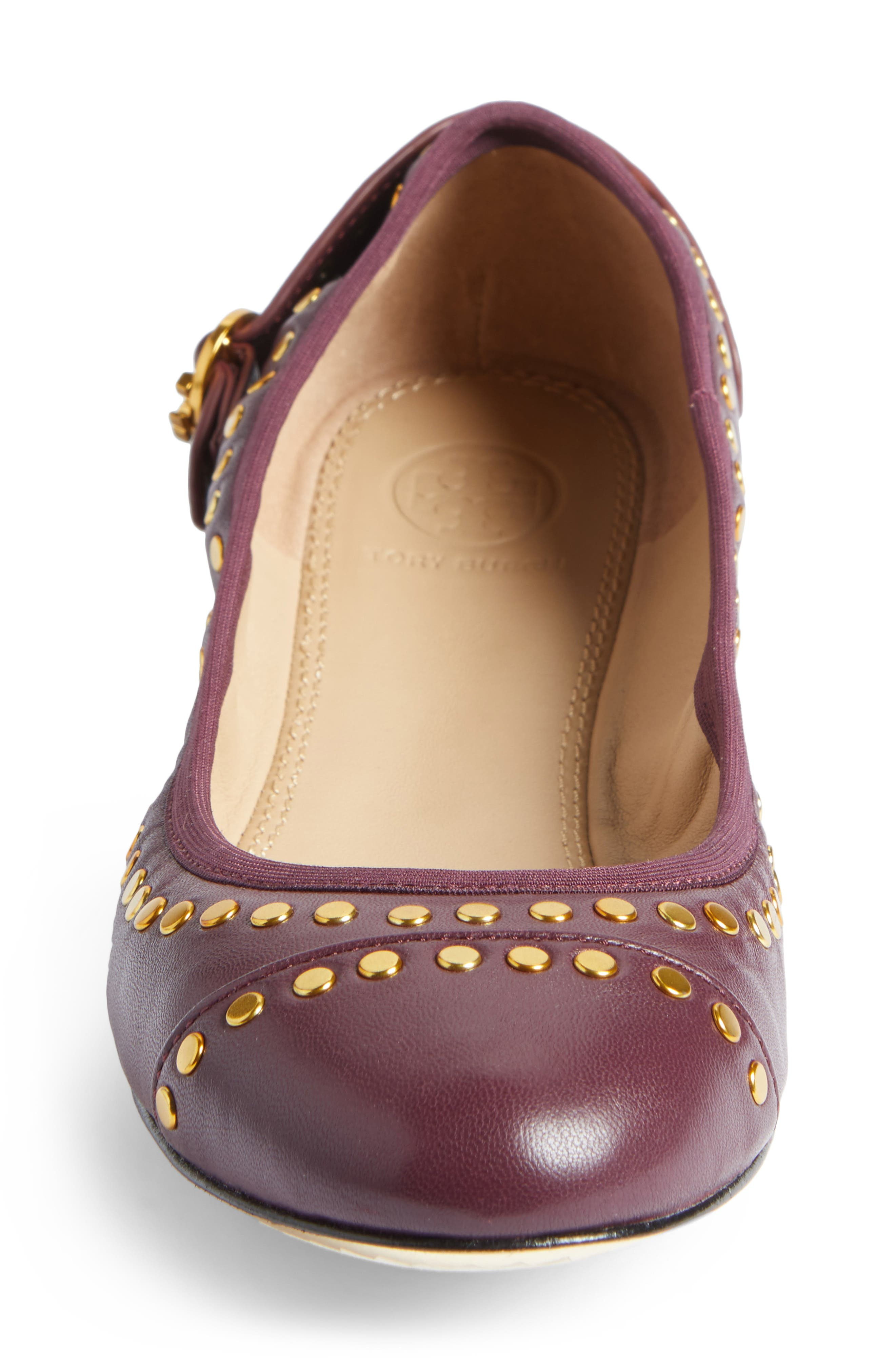 Alternate Image 4  - Tory Burch Holden Studded Cap Toe Flat (Women)