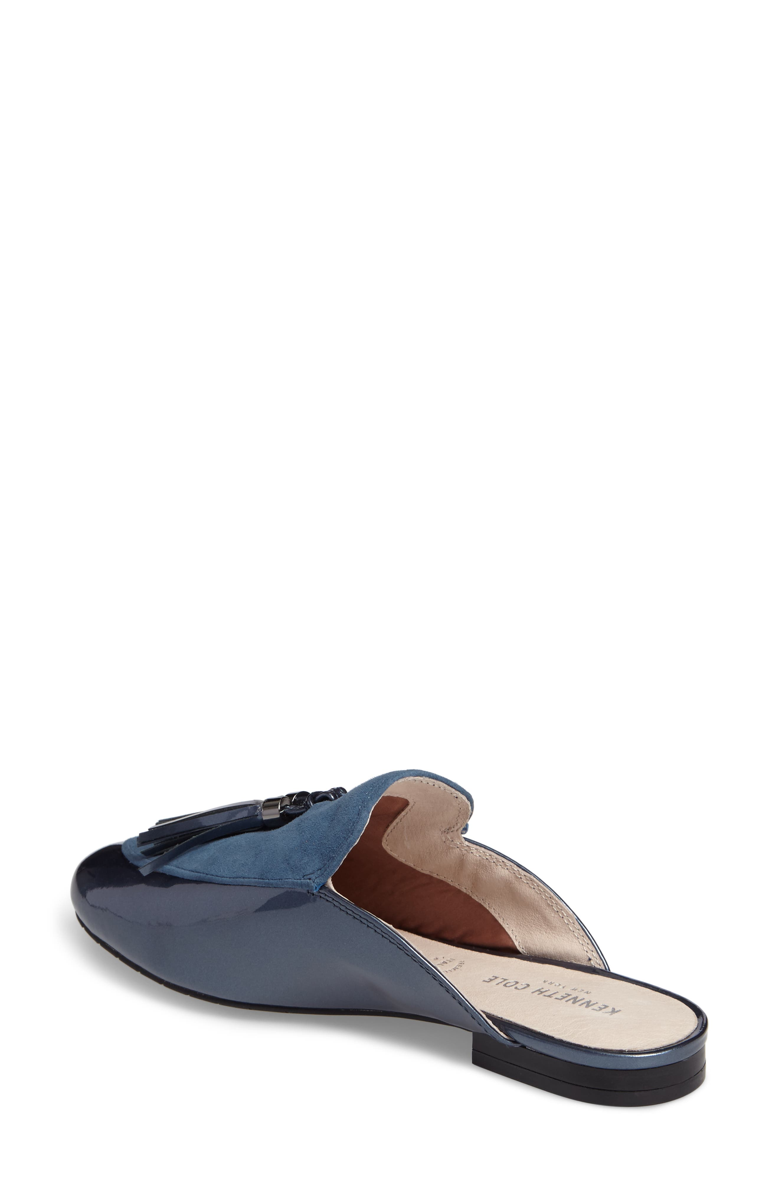 Whinnie Loafer Mule,                             Alternate thumbnail 2, color,                             Indigo Patent Leather