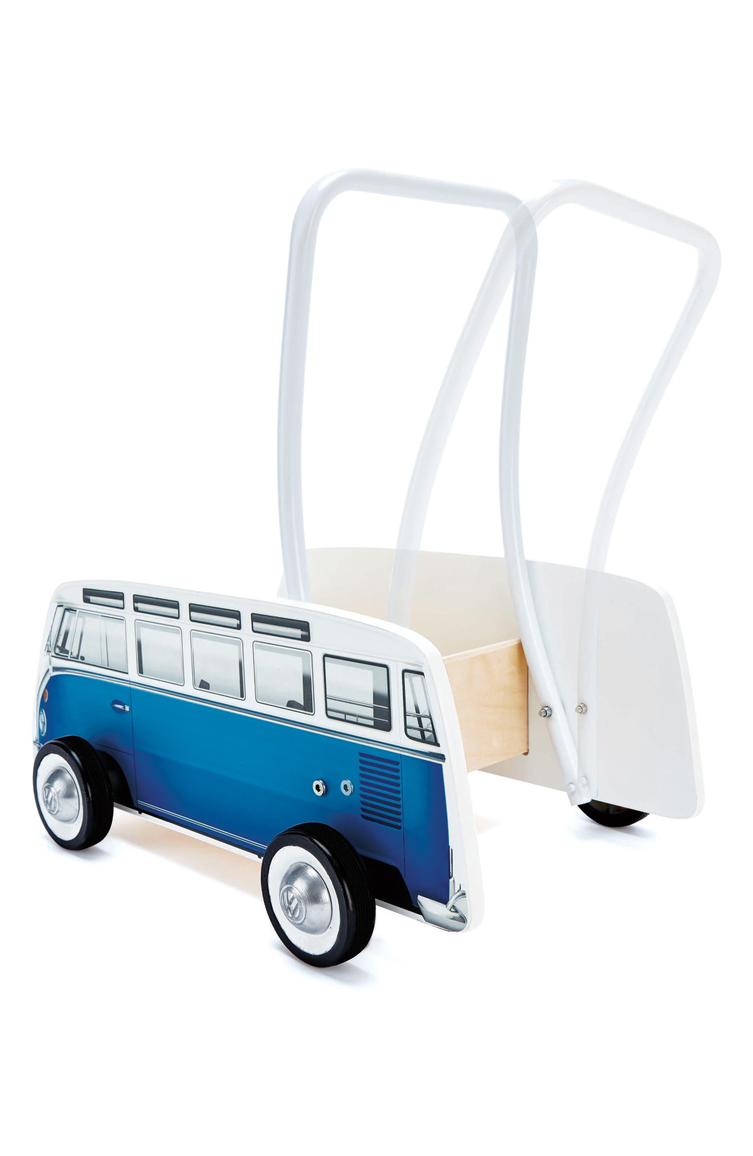 Classical VW Push Bus,                             Alternate thumbnail 4, color,                             Blue