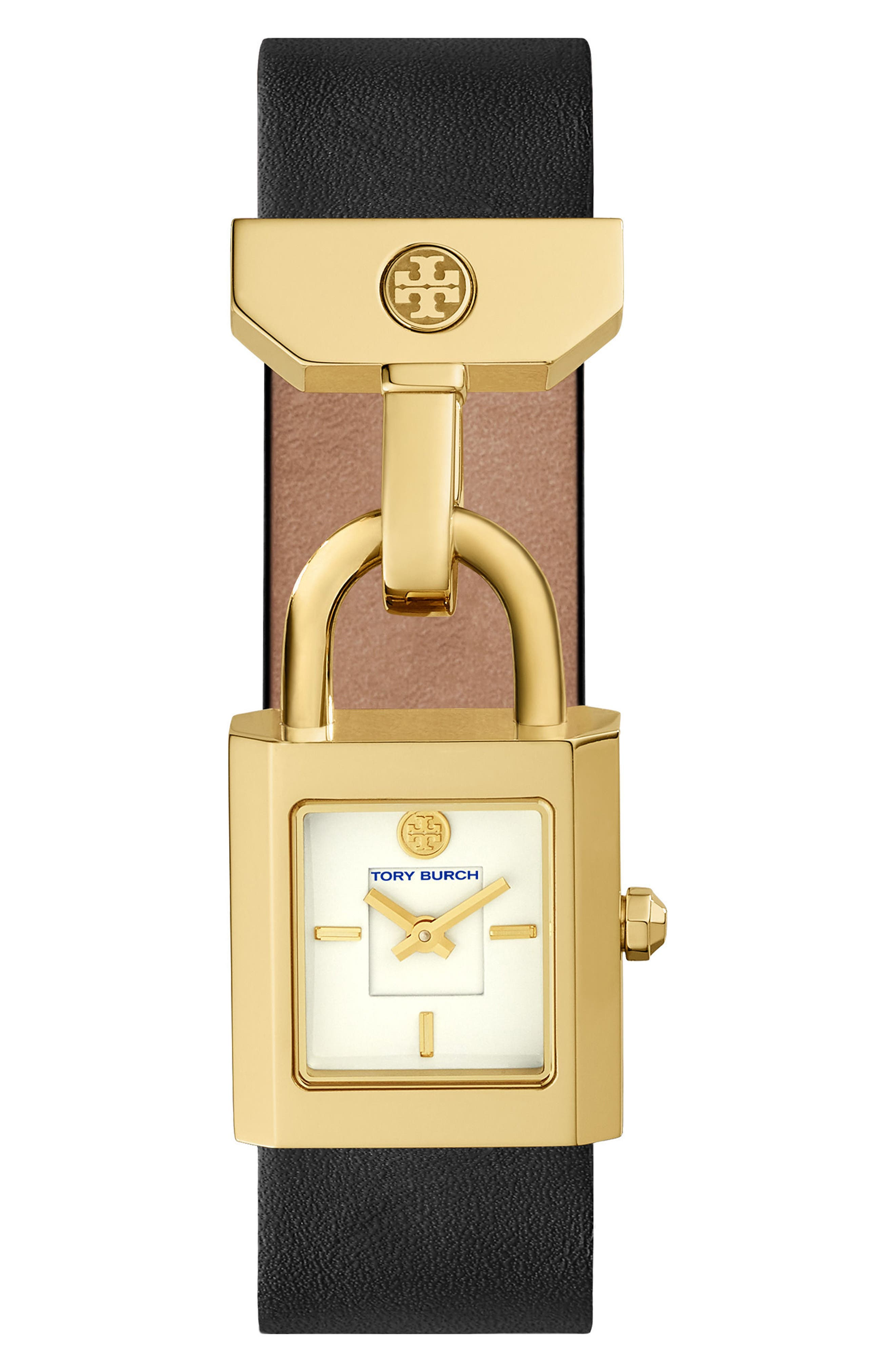TORY BURCH Surrey Leather Strap Watch, 22mm x 23.5mm
