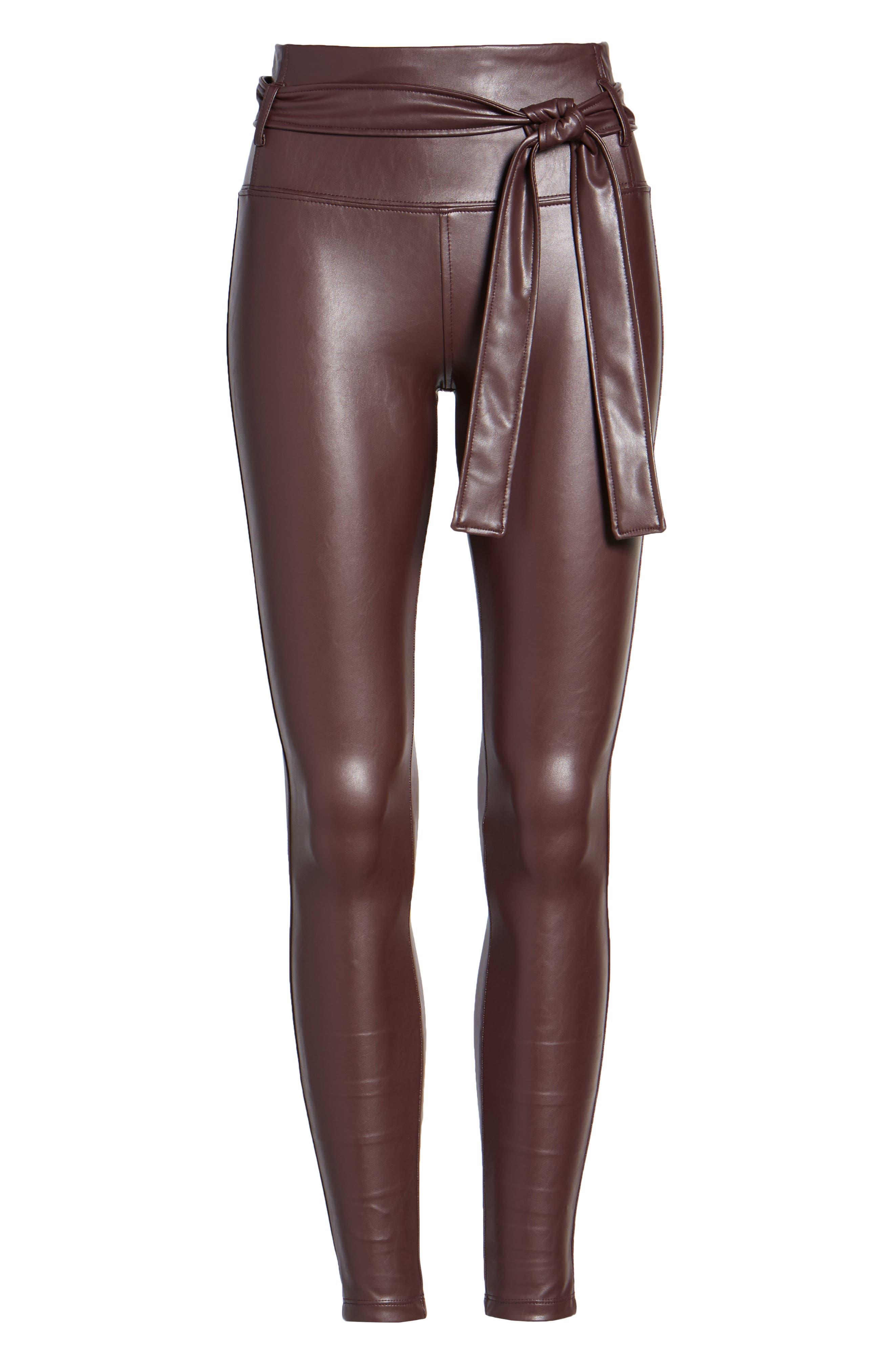 Alternate Image 4  - David Lerner Elliot High Waist Faux Leather Leggings