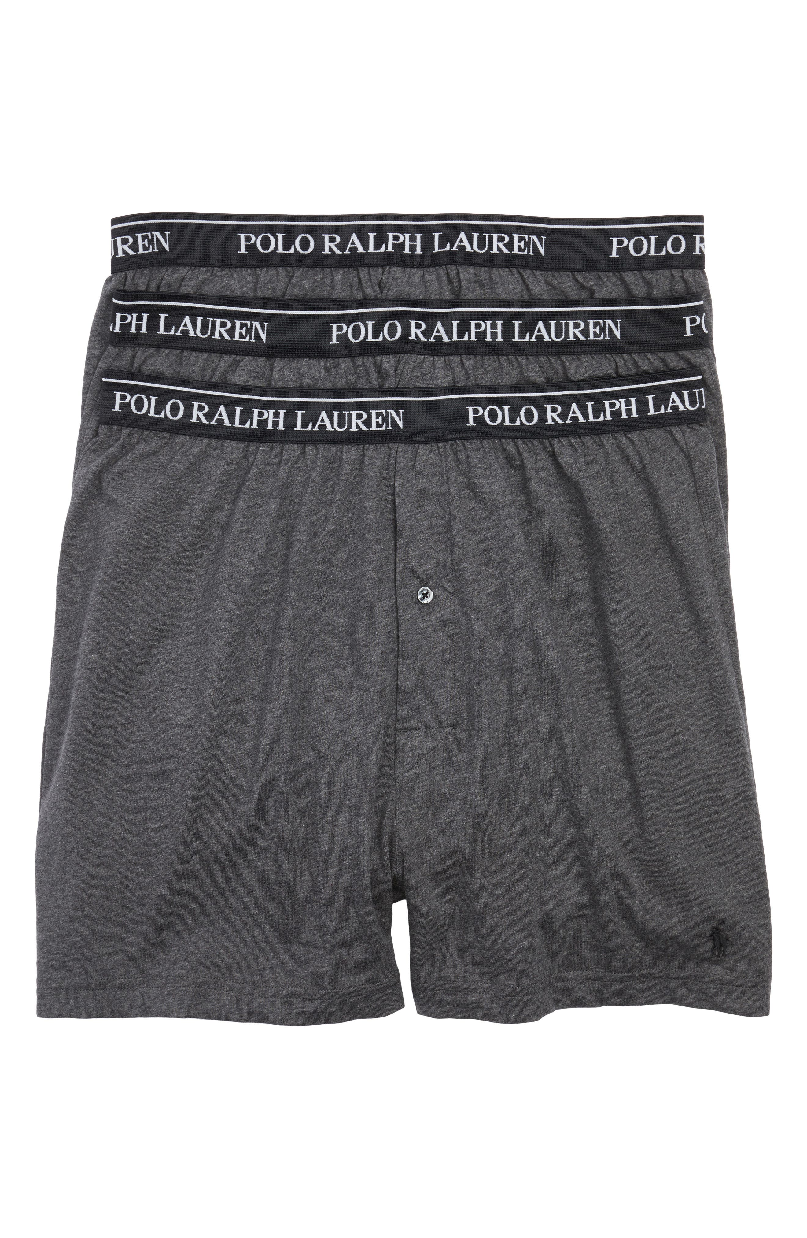 3-Pack Cotton Boxers,                         Main,                         color, Charcoal Heather/ Assorted