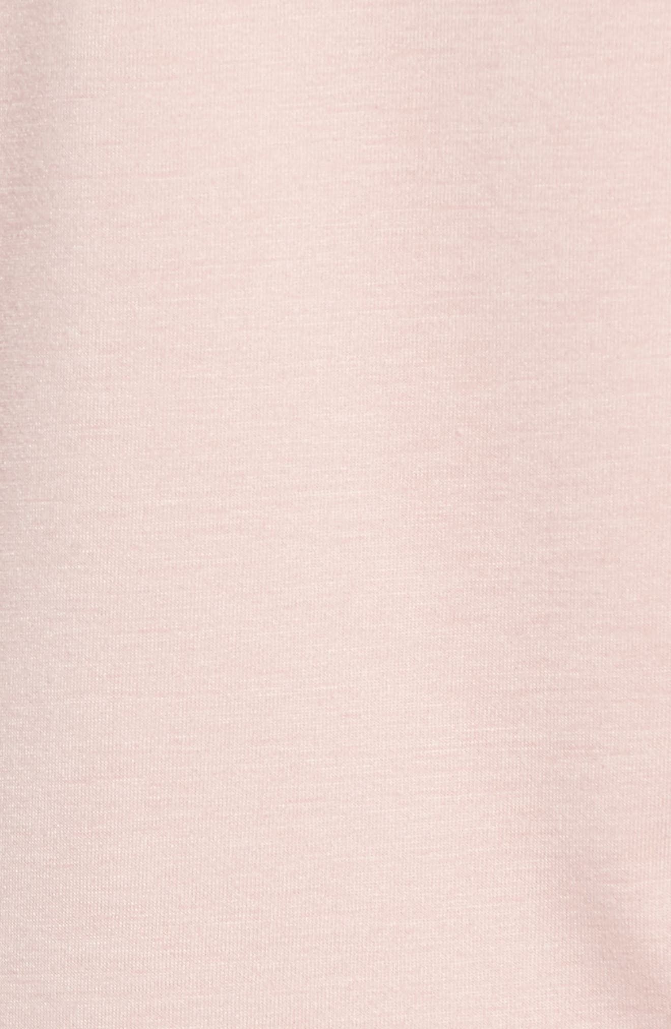 Tie Front Sweatshirt,                             Alternate thumbnail 5, color,                             Pink Adobe