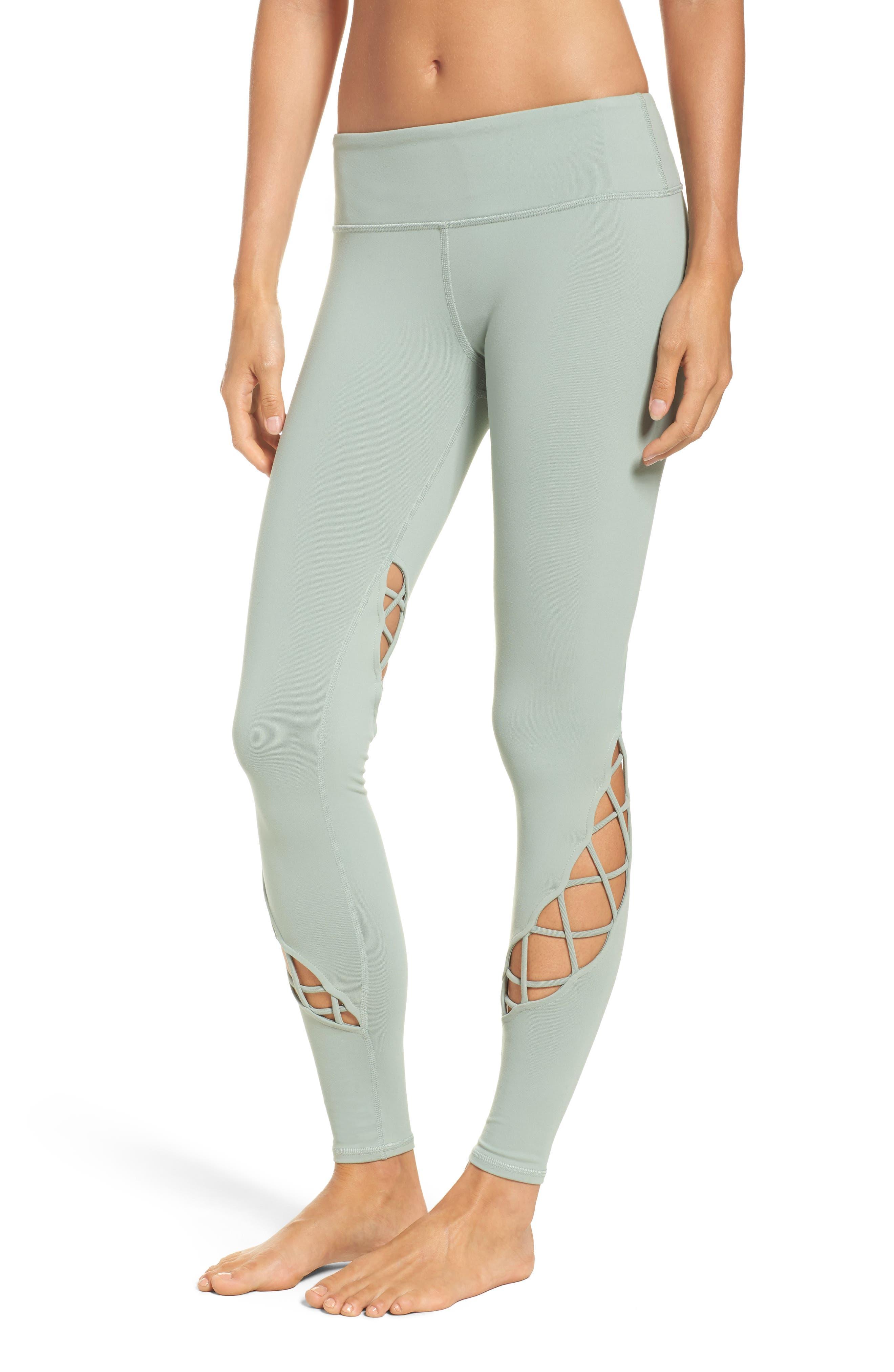 Entwine Yoga Leggings,                         Main,                         color, Sage