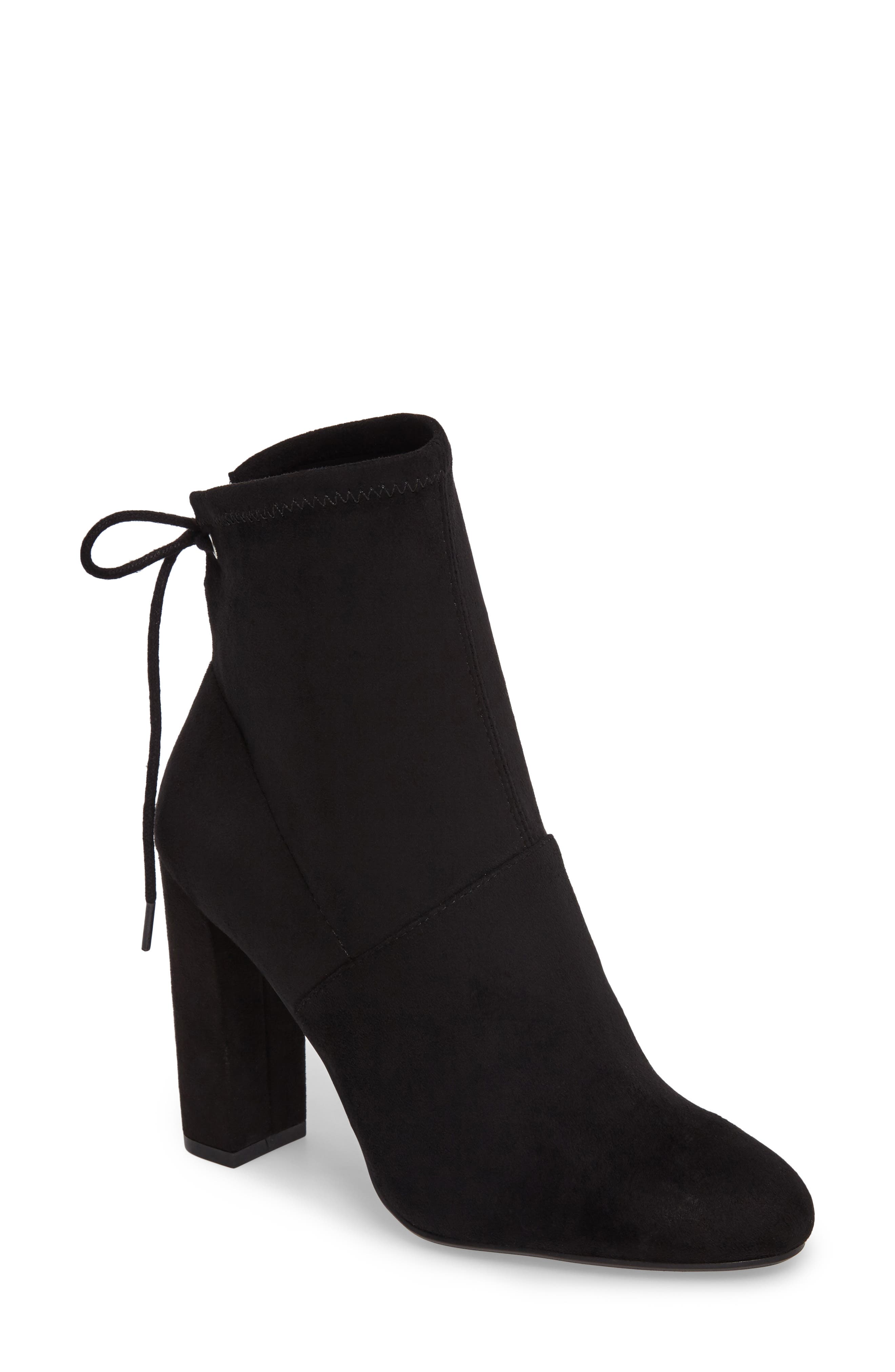 Enact Tie-Back Bootie,                             Main thumbnail 1, color,                             Black